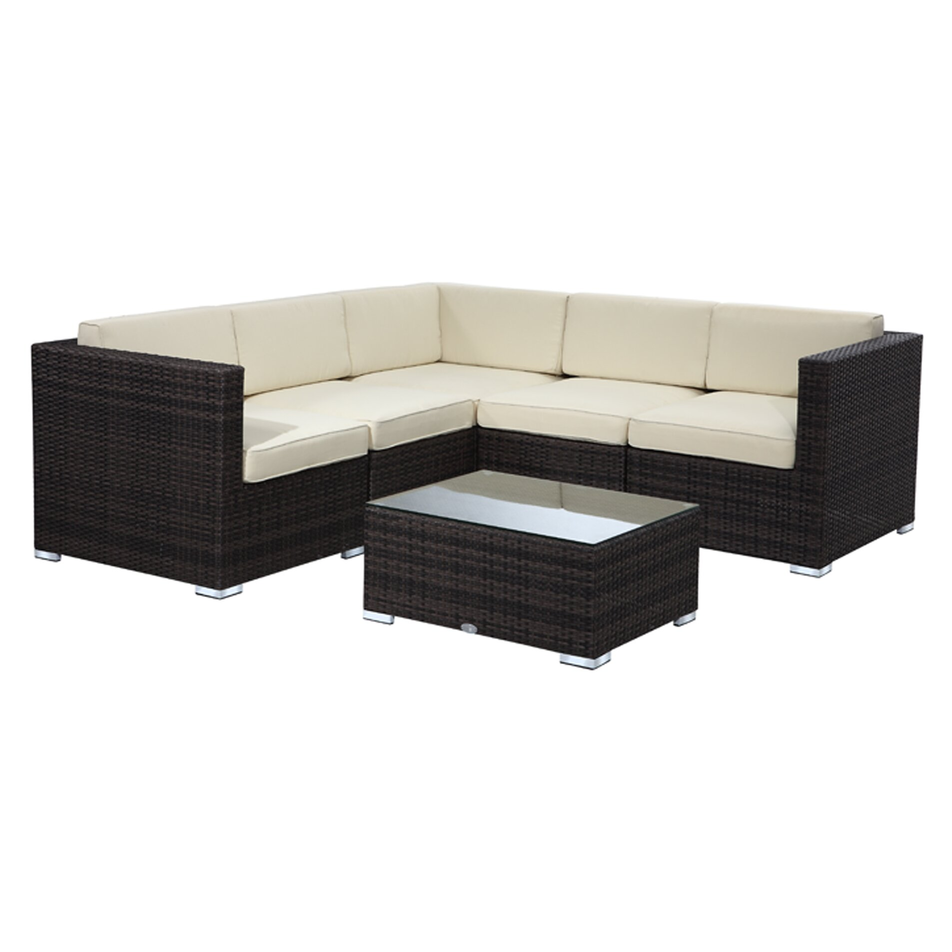 Rattan outdoor furniture brighton 6 piece sectional for Outdoor furniture reviews