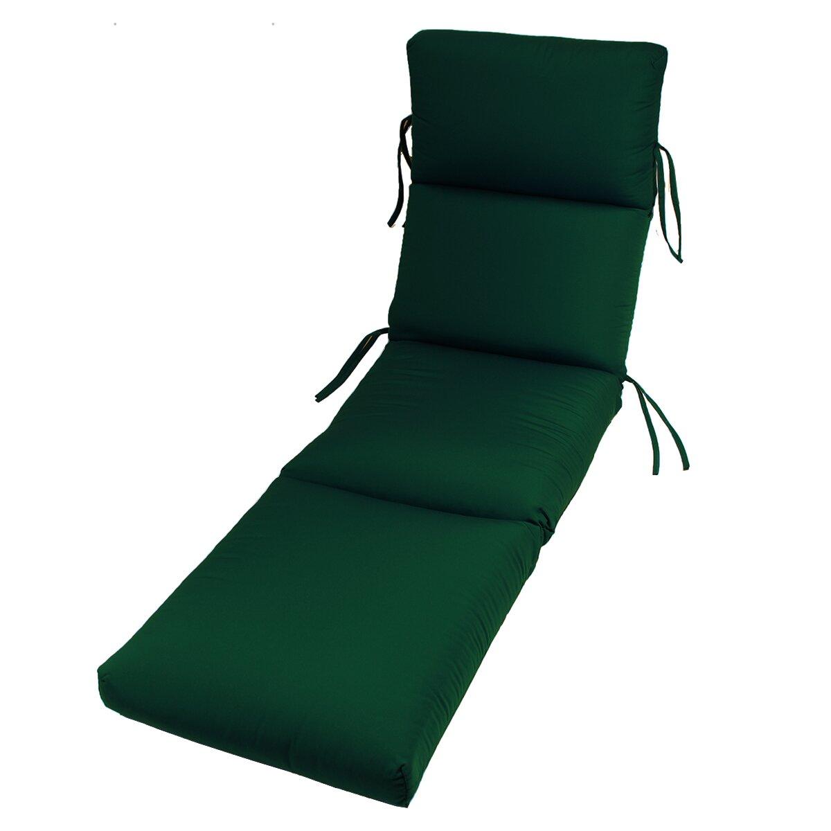 Comfort clas outdoor sunbrella chaise lounge cushion for Chaise cushions sunbrella