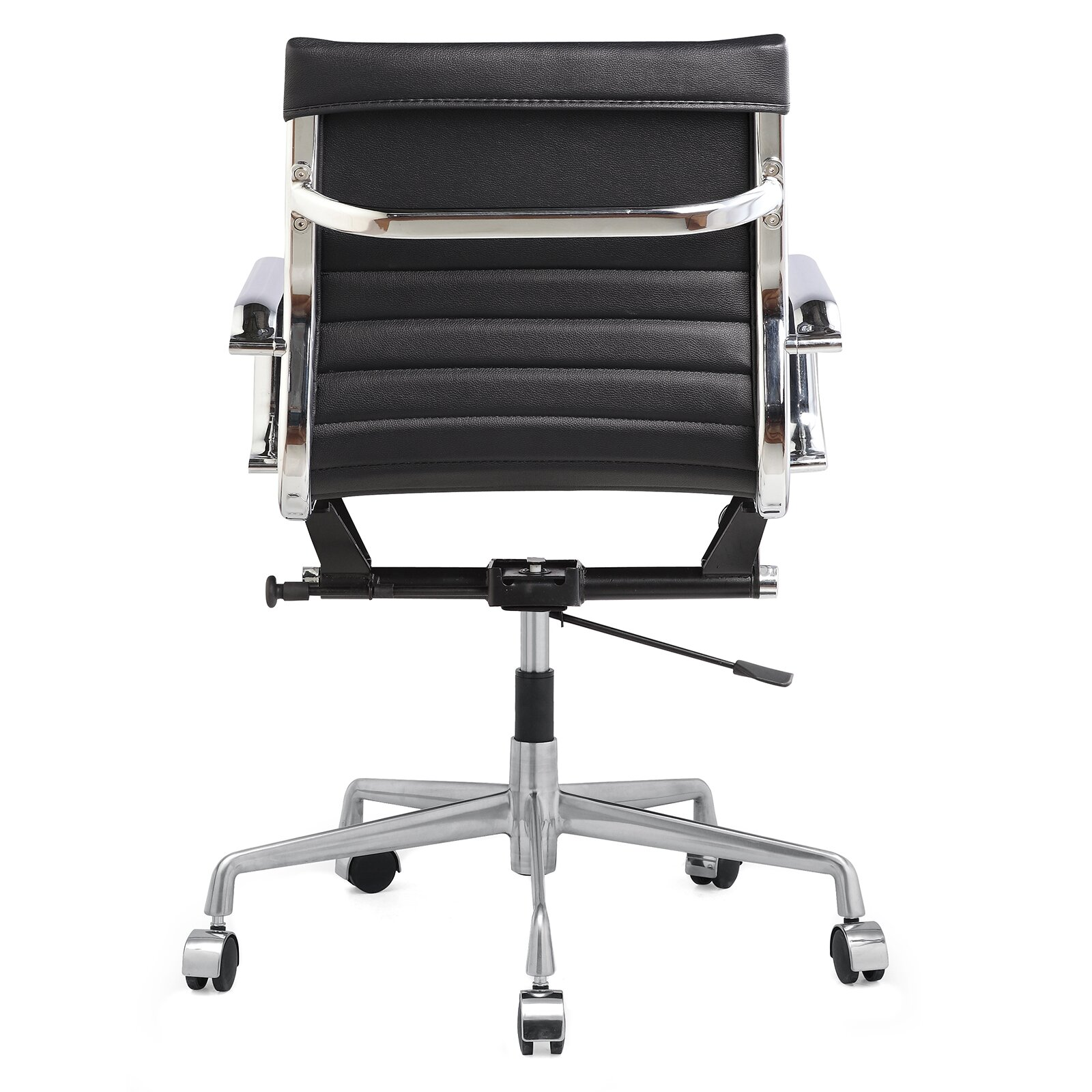 meelano vegan leather mid back office chair with arms reviews