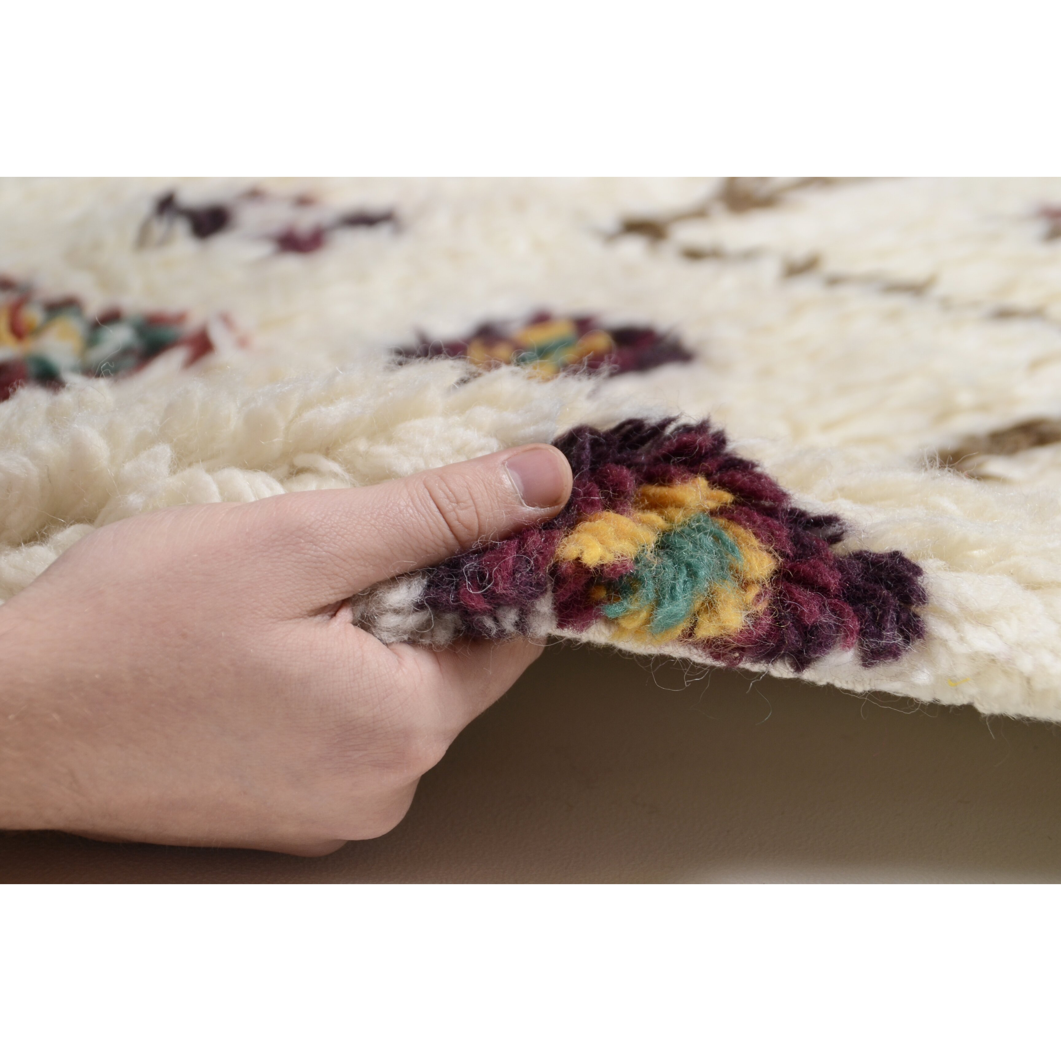 theko nomadic hand woven beige rug reviews wayfair uk. Black Bedroom Furniture Sets. Home Design Ideas