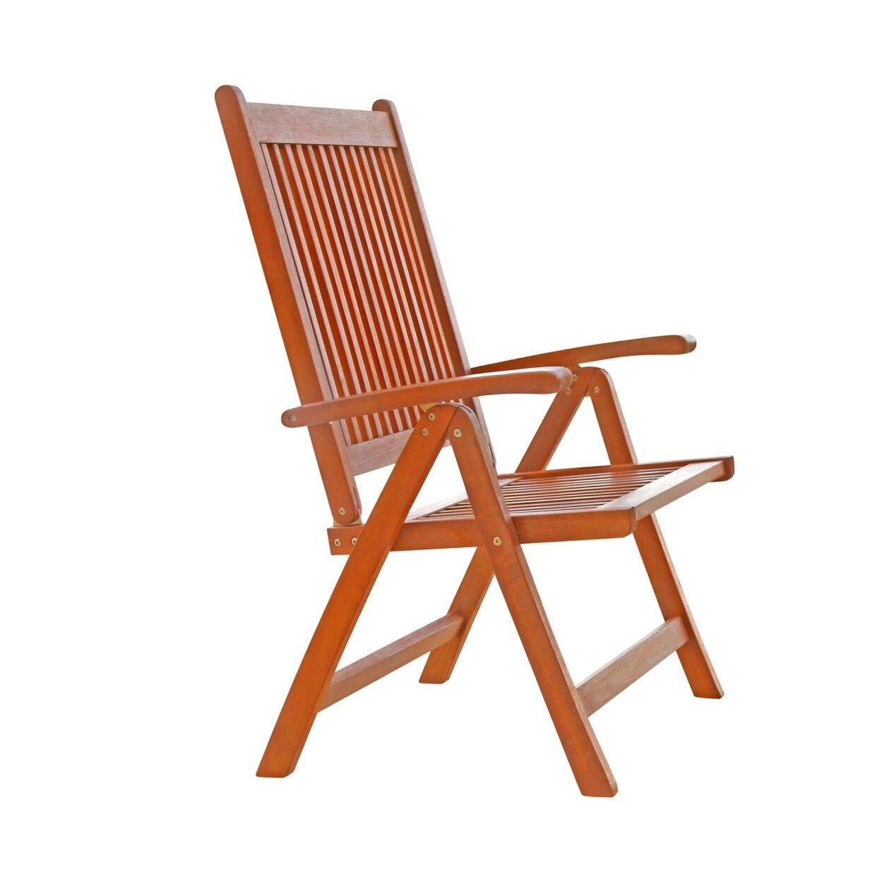 Vifah vista reclining dining arm chair reviews wayfair - Reclining dining room chairs ...