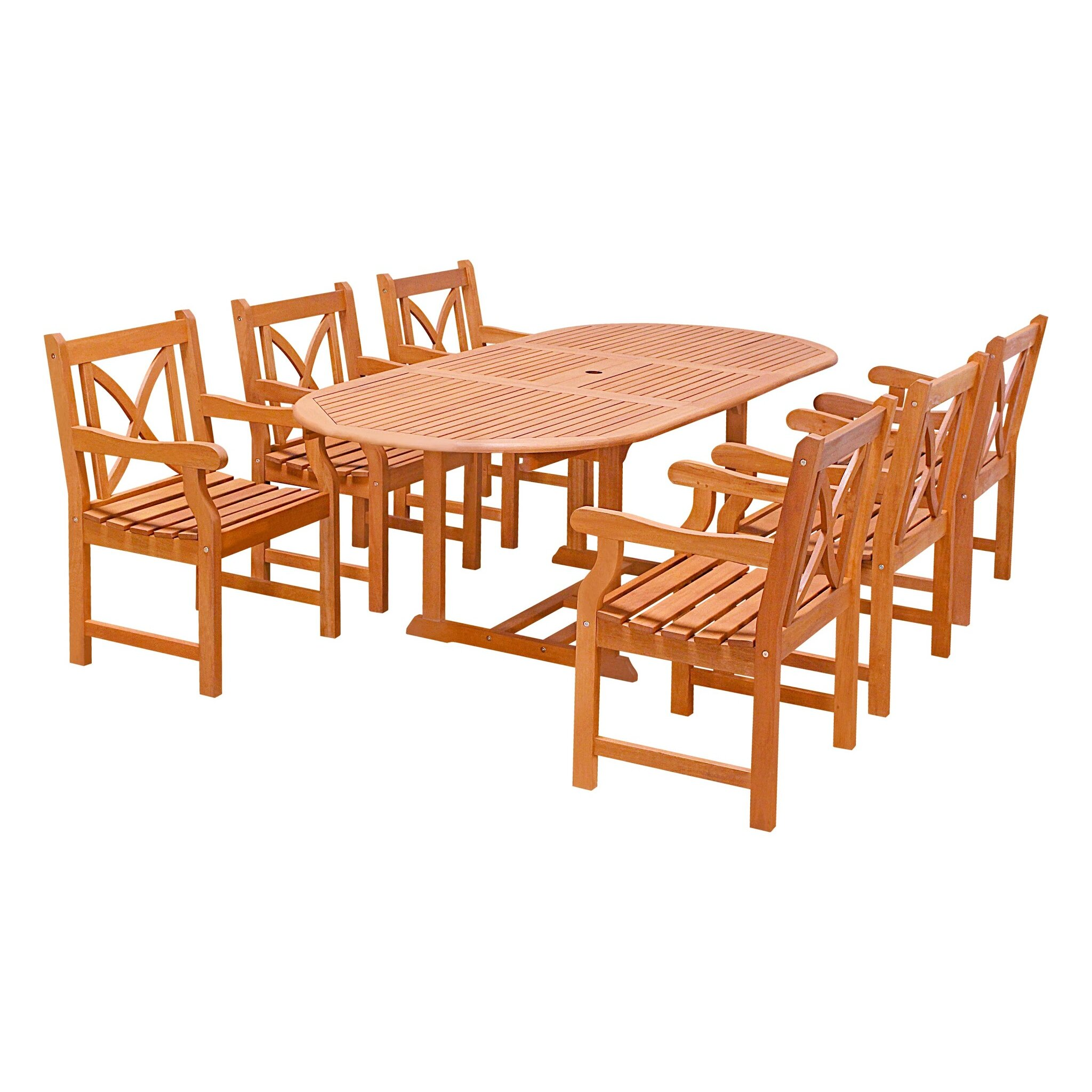 outdoor patio furniture eight person patio dining sets vifah sku