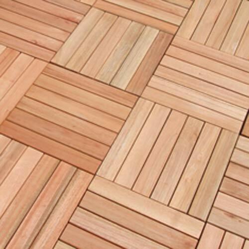 Vifah eucalyptus 12 x 12 interlocking deck tile for 12 x 12 wood floor tiles