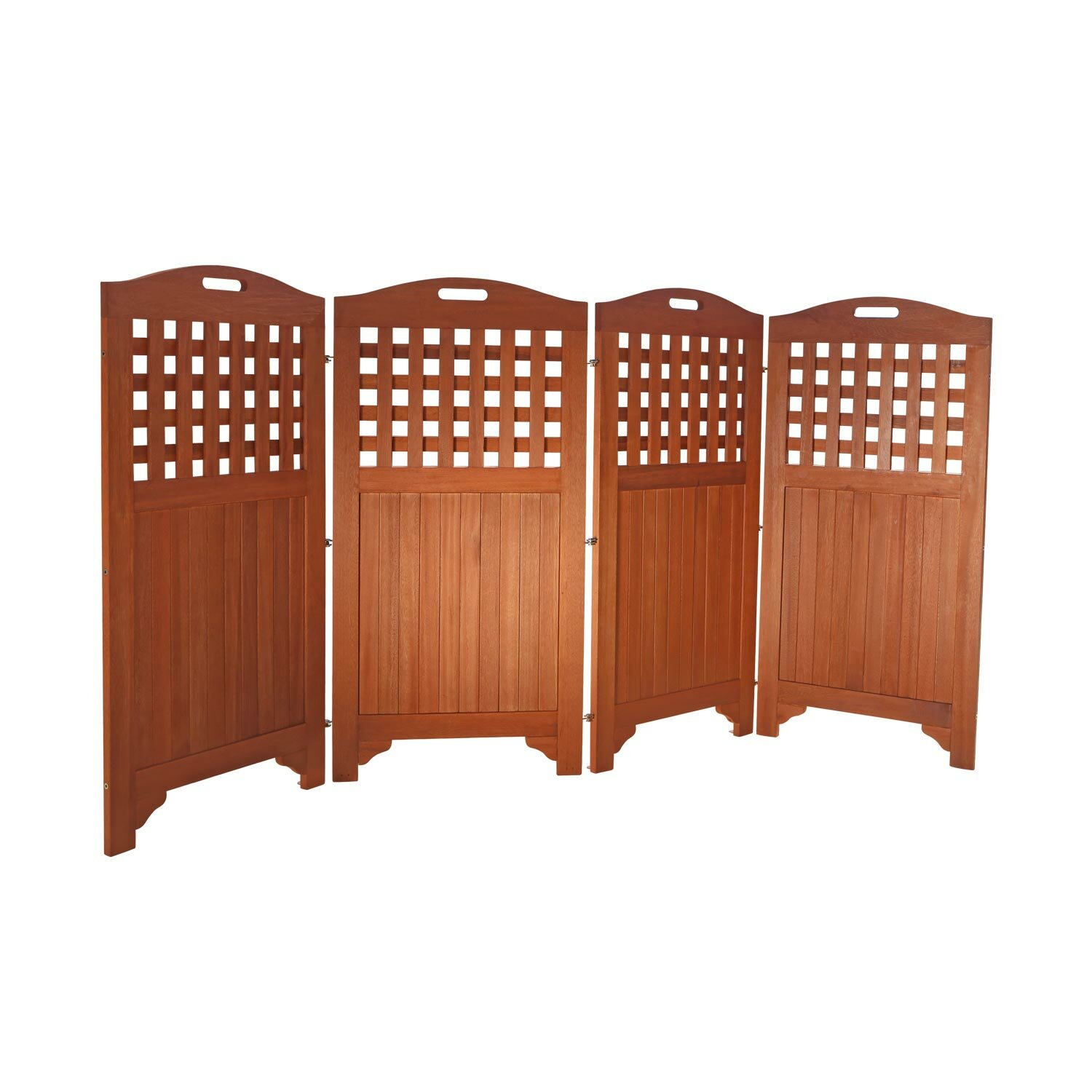Vifah outdoor wood privacy screen reviews wayfair for Wood patio privacy screens