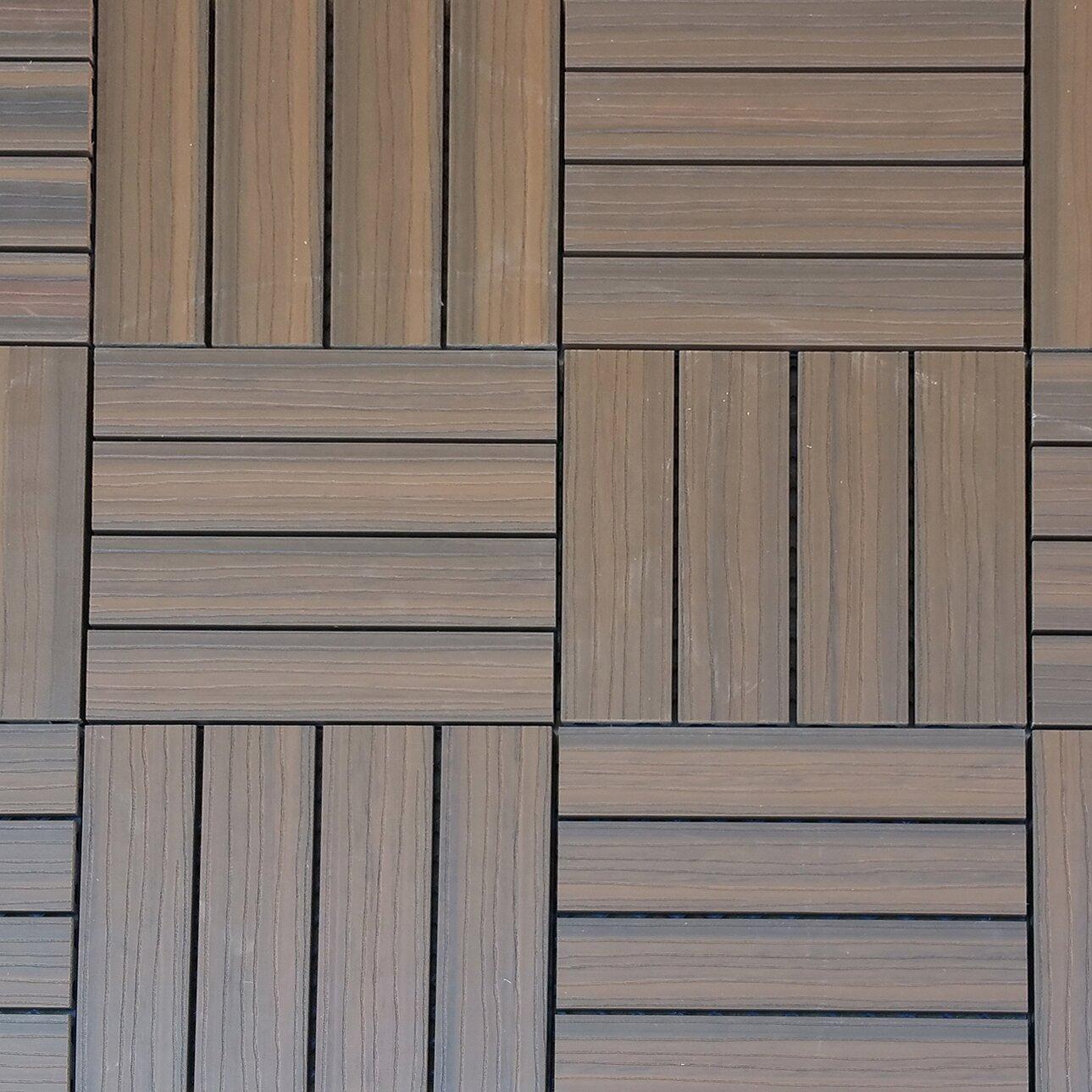 vifah composite walnut 12 x 12 interlocking deck tiles. Black Bedroom Furniture Sets. Home Design Ideas