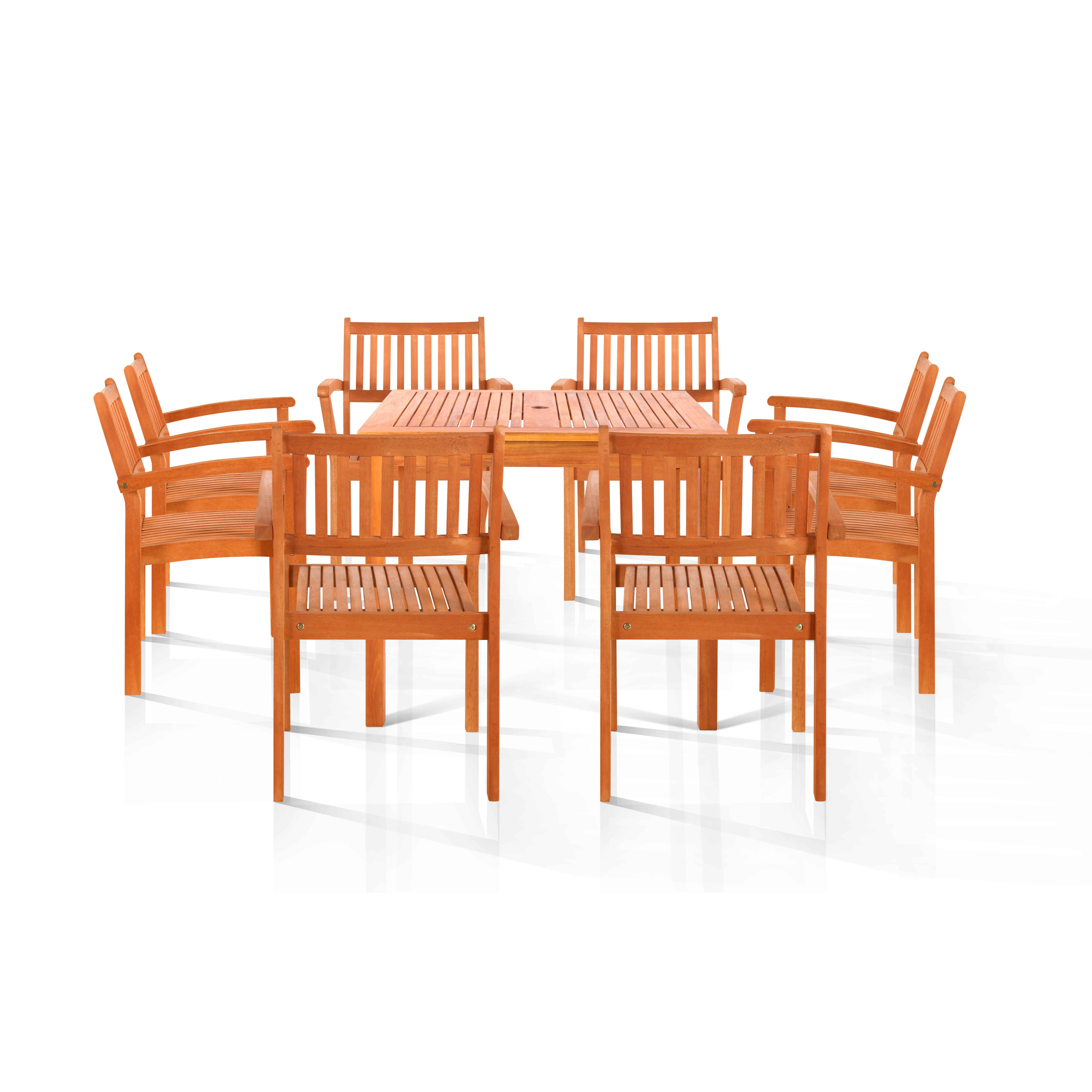 Vifah pasadena 9 piece dining set wayfair for Pasadena outdoor furniture