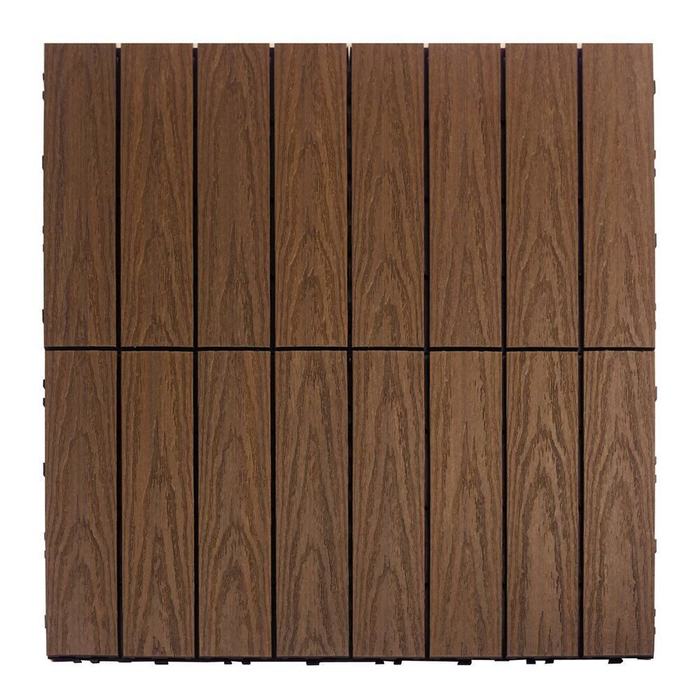 newtechwood naturale composite 12 x 12 interlocking deck tiles in brazilian ipe reviews. Black Bedroom Furniture Sets. Home Design Ideas