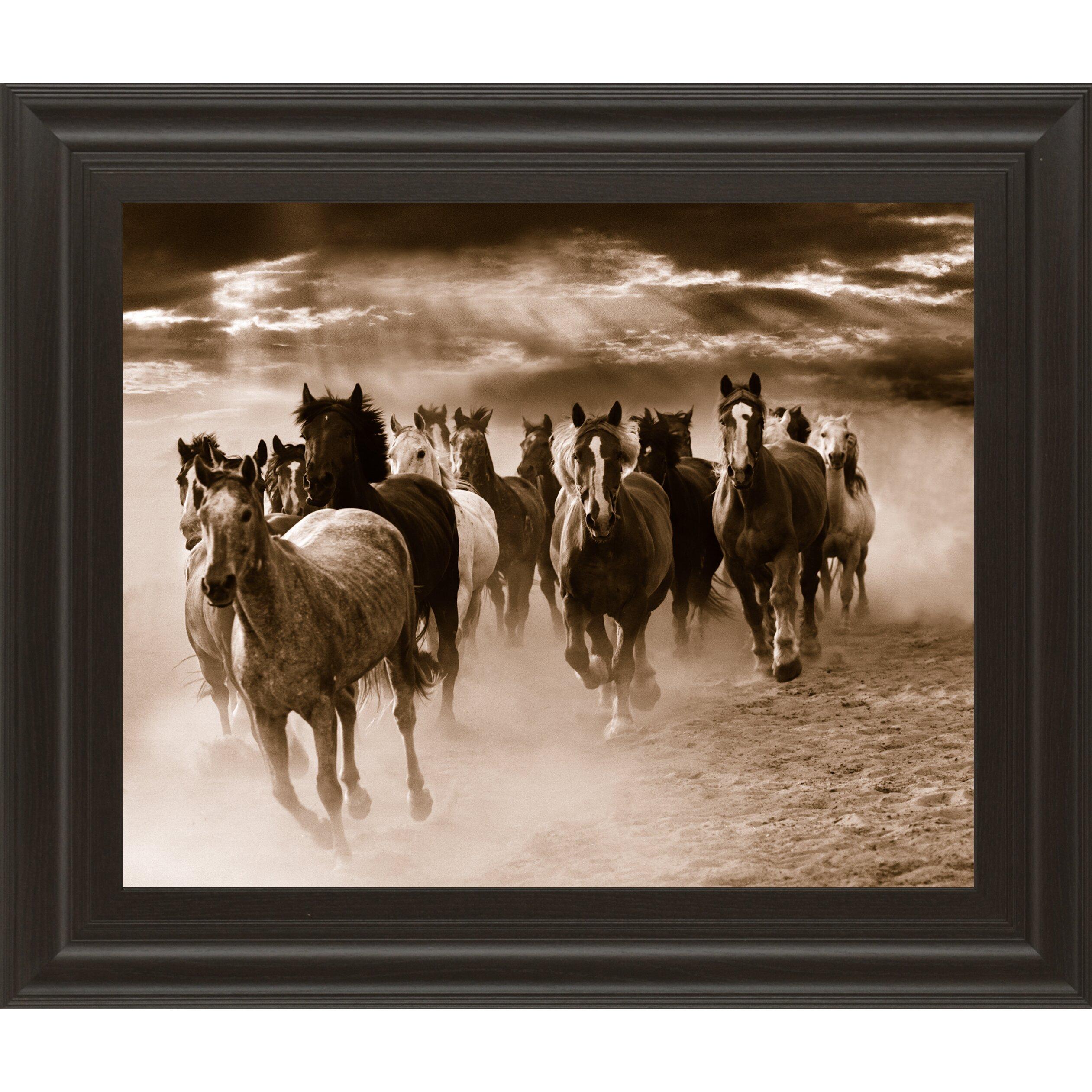 ClassyArtWholesalers Running Horses by Monte Naglar Framed ...