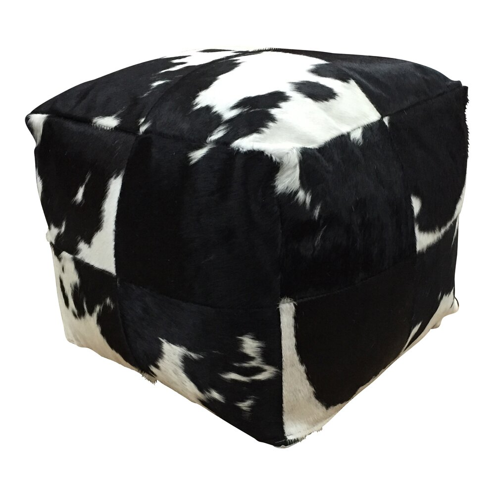 deco hides denver leather pouf ottoman reviews. Black Bedroom Furniture Sets. Home Design Ideas