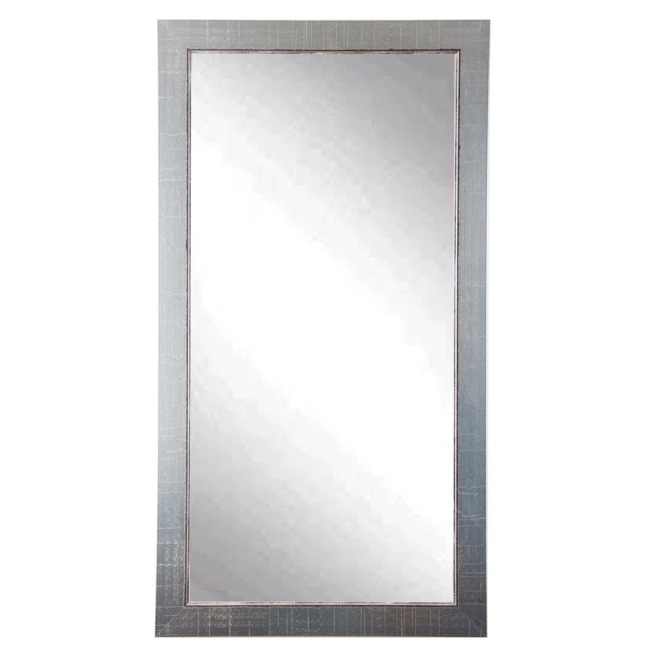 Brandtworksllc silver lined full body floor mirror for Glass floor mirror