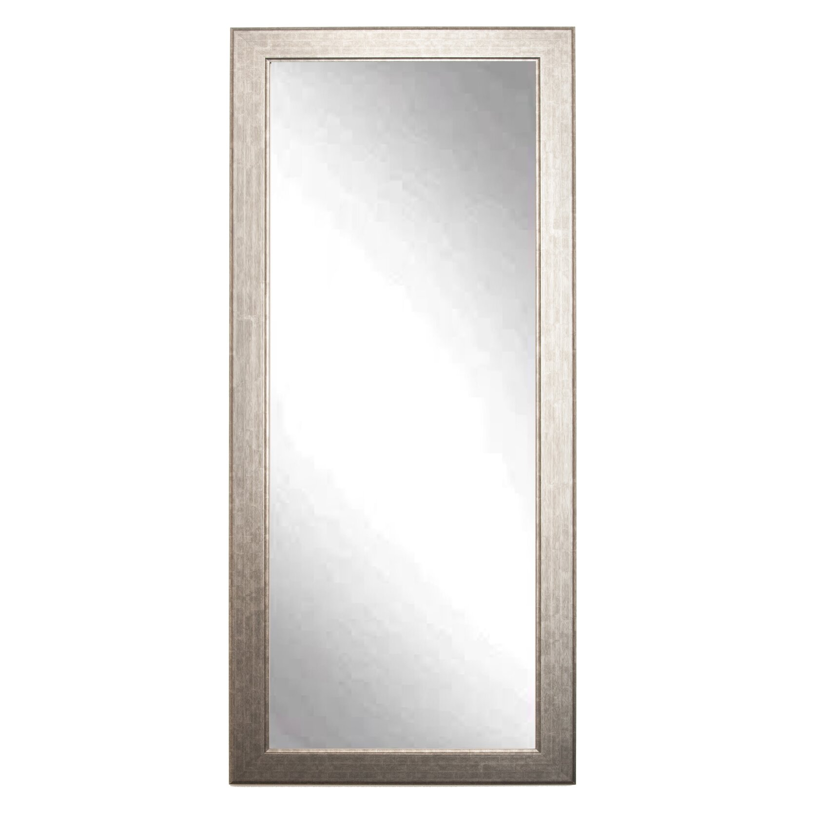 Brandtworksllc subway silver elite tall accent wall mirror for Tall glass mirror
