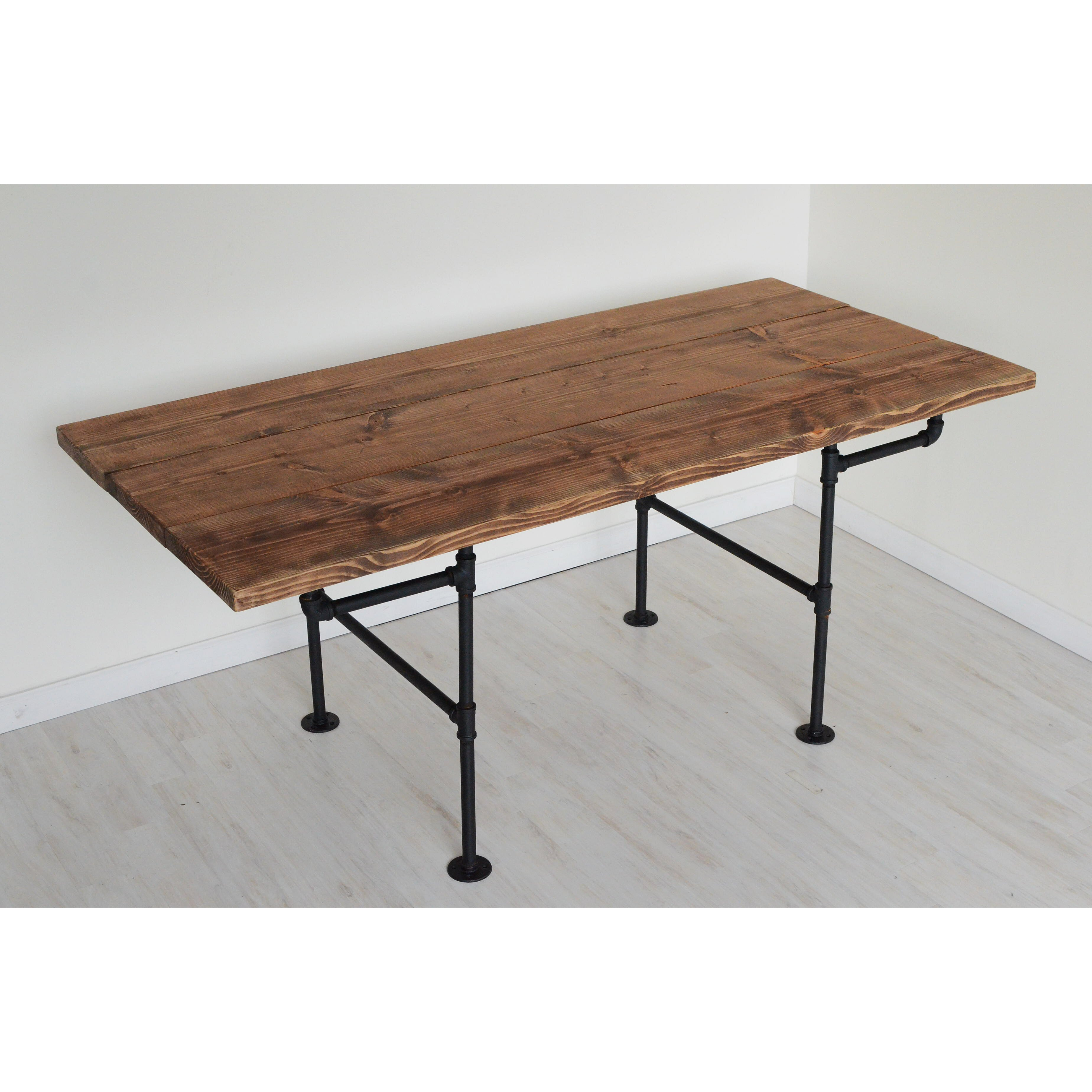 brandtworksllc american iron pipe 6 foot dining table