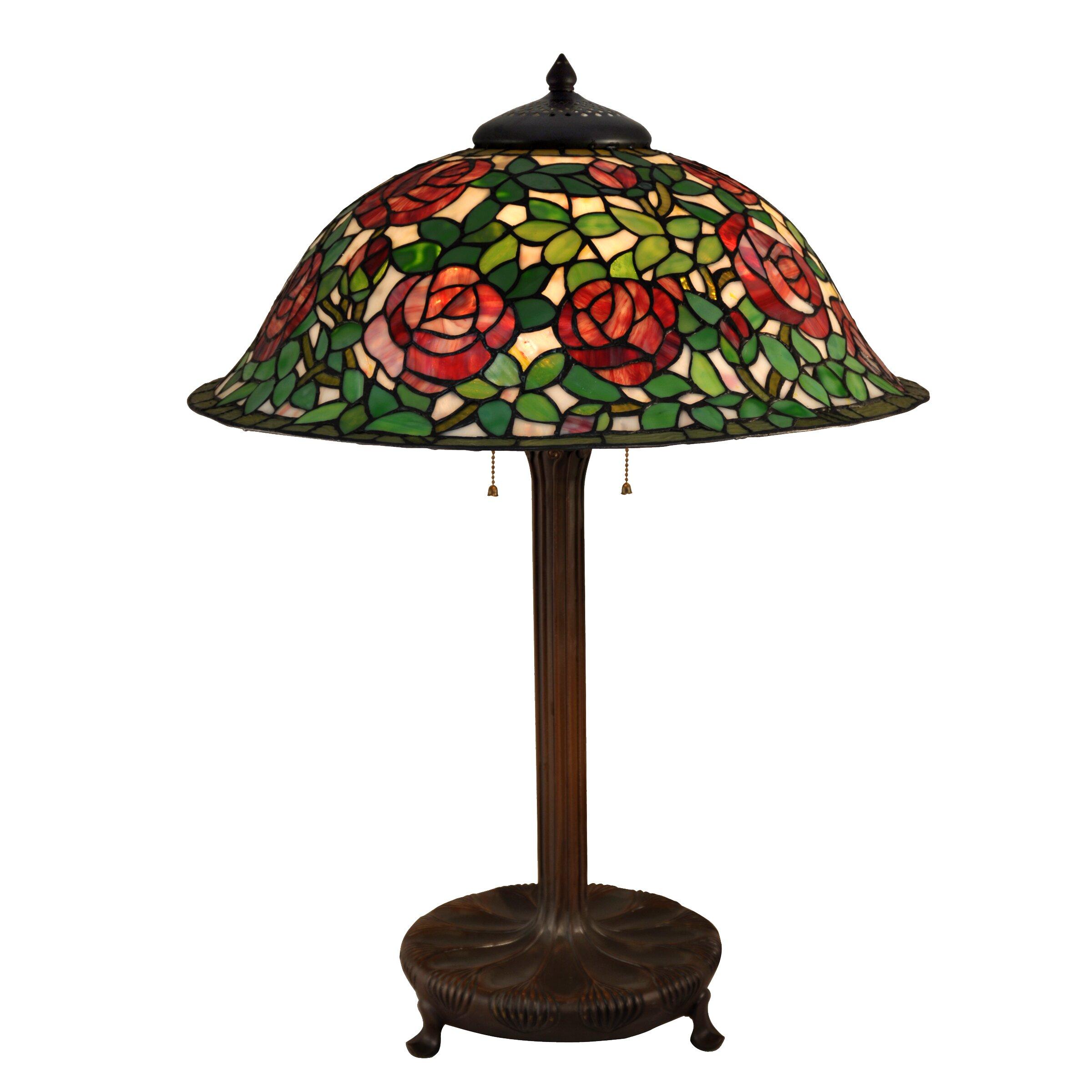 Dale Tiffany Rose Bush 31 5 Quot Table Lamp Wayfair