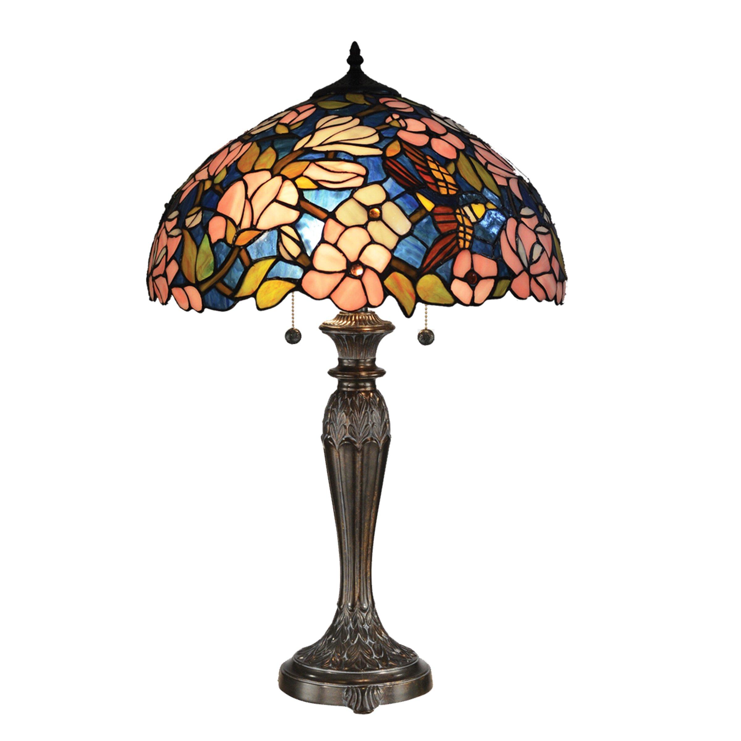 "Dale Tiffany Floral 23"" Table Lamp & Reviews | Wayfair"