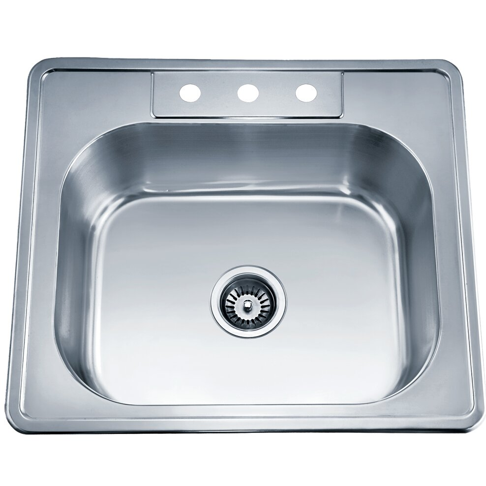 top mount single bowl kitchen sink usa 25 quot x 22 quot top mount single bowl kitchen sink 9486