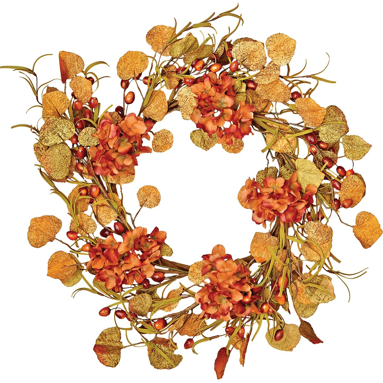 Worth Imports 22 Quot Fall Berry And Hydrangea Wreath