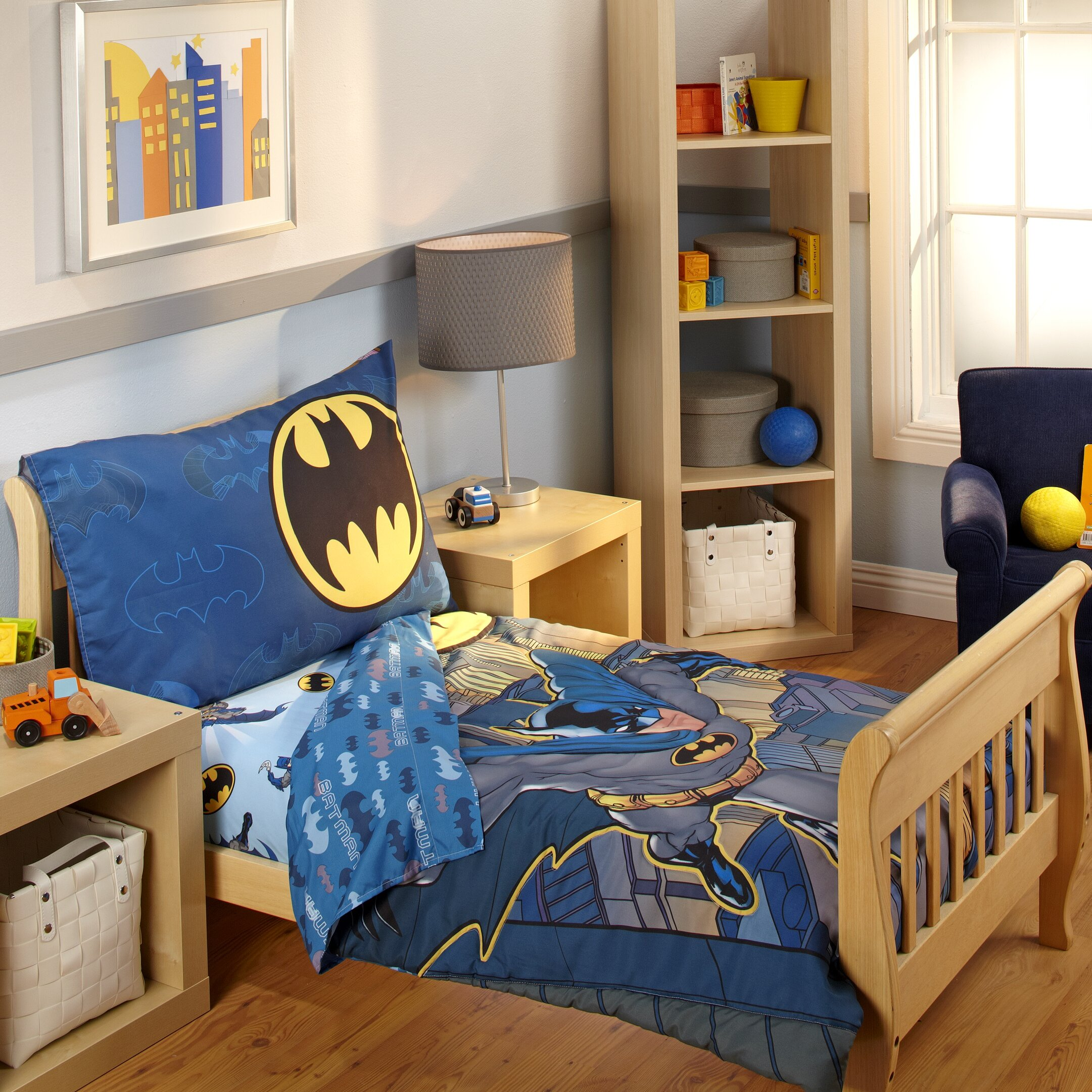Batman 4 Piece Toddler Bedding Set Amp Reviews