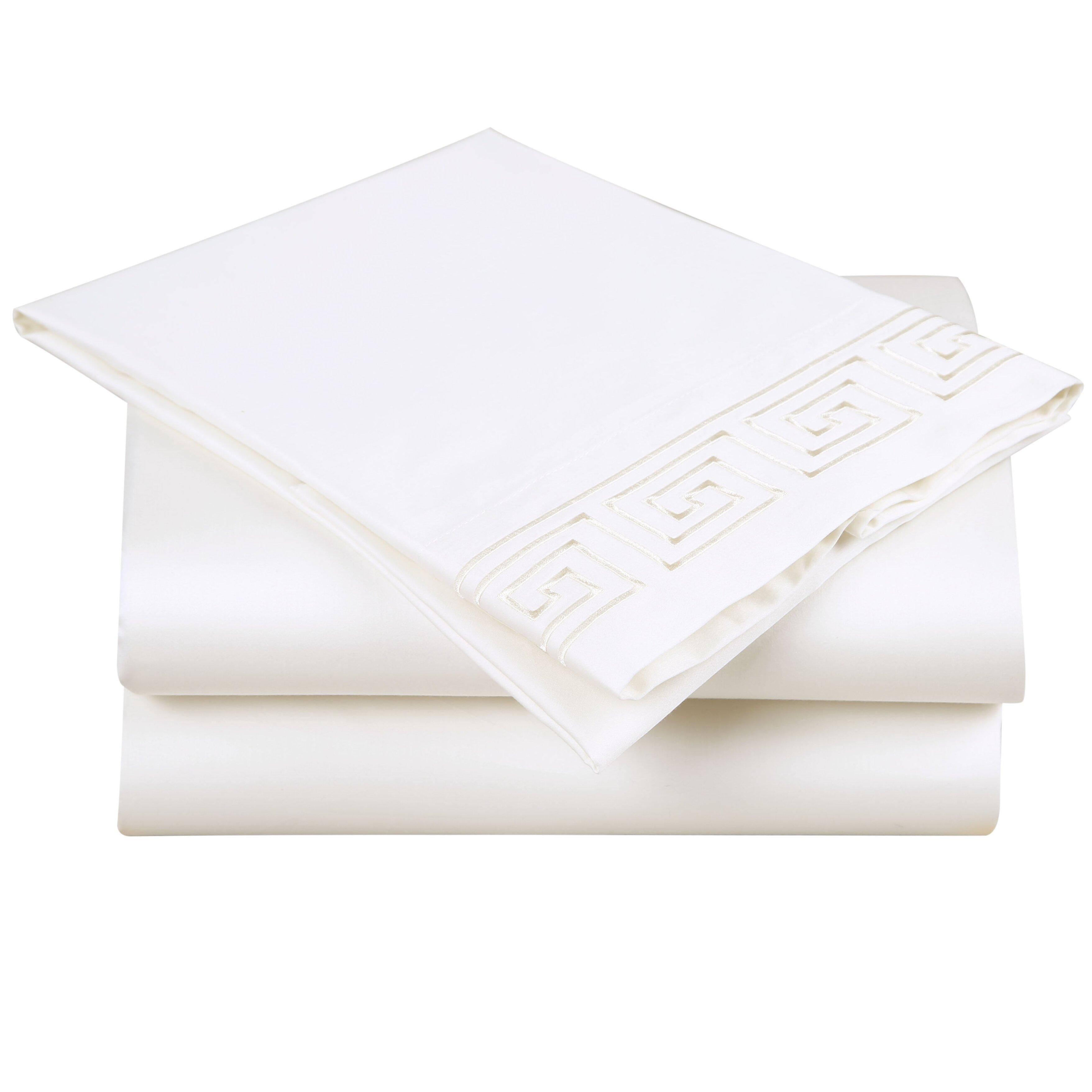 affluence home fashions 600 thread count cotton sheet set reviews wayfair. Black Bedroom Furniture Sets. Home Design Ideas