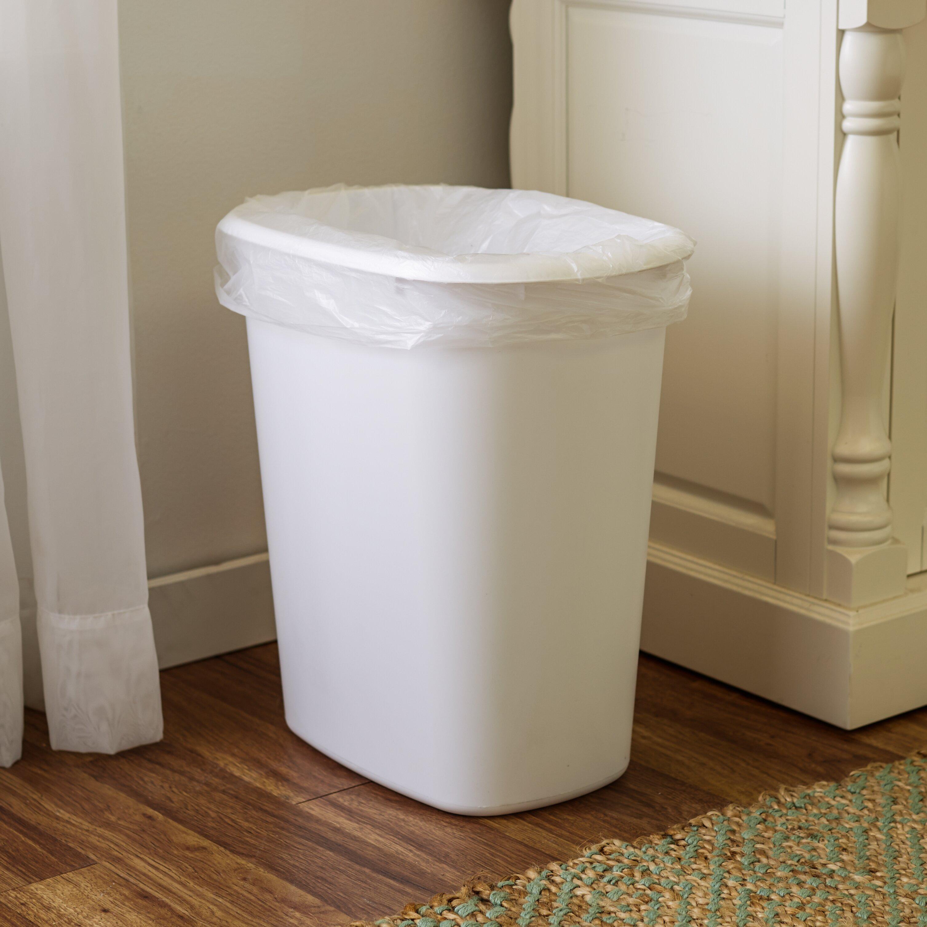 wayfair basics wayfair basics 10 gal trash can reviews wayfair. Black Bedroom Furniture Sets. Home Design Ideas