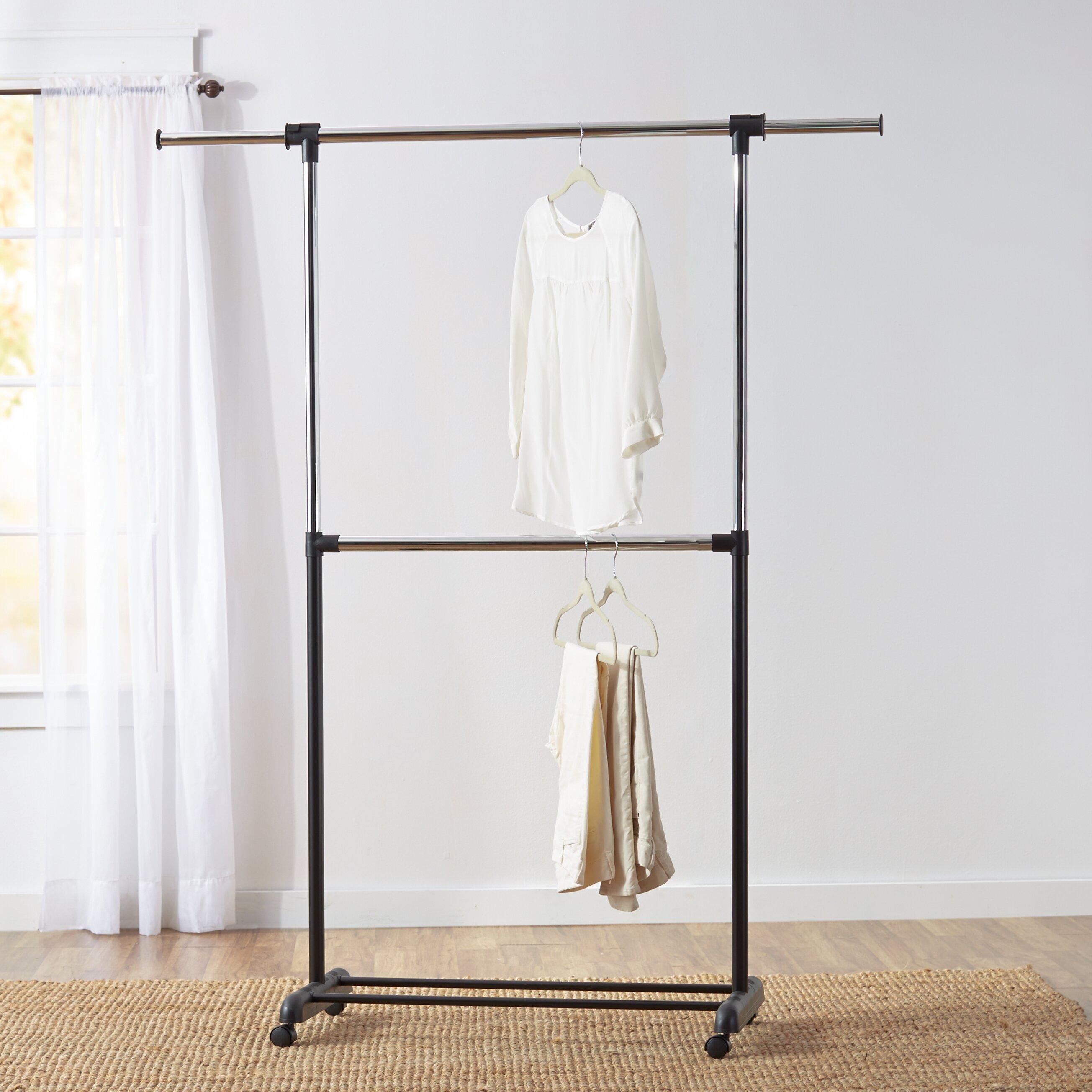 wayfair basics wayfair basics adjustable garment rack reviews wayfair. Black Bedroom Furniture Sets. Home Design Ideas