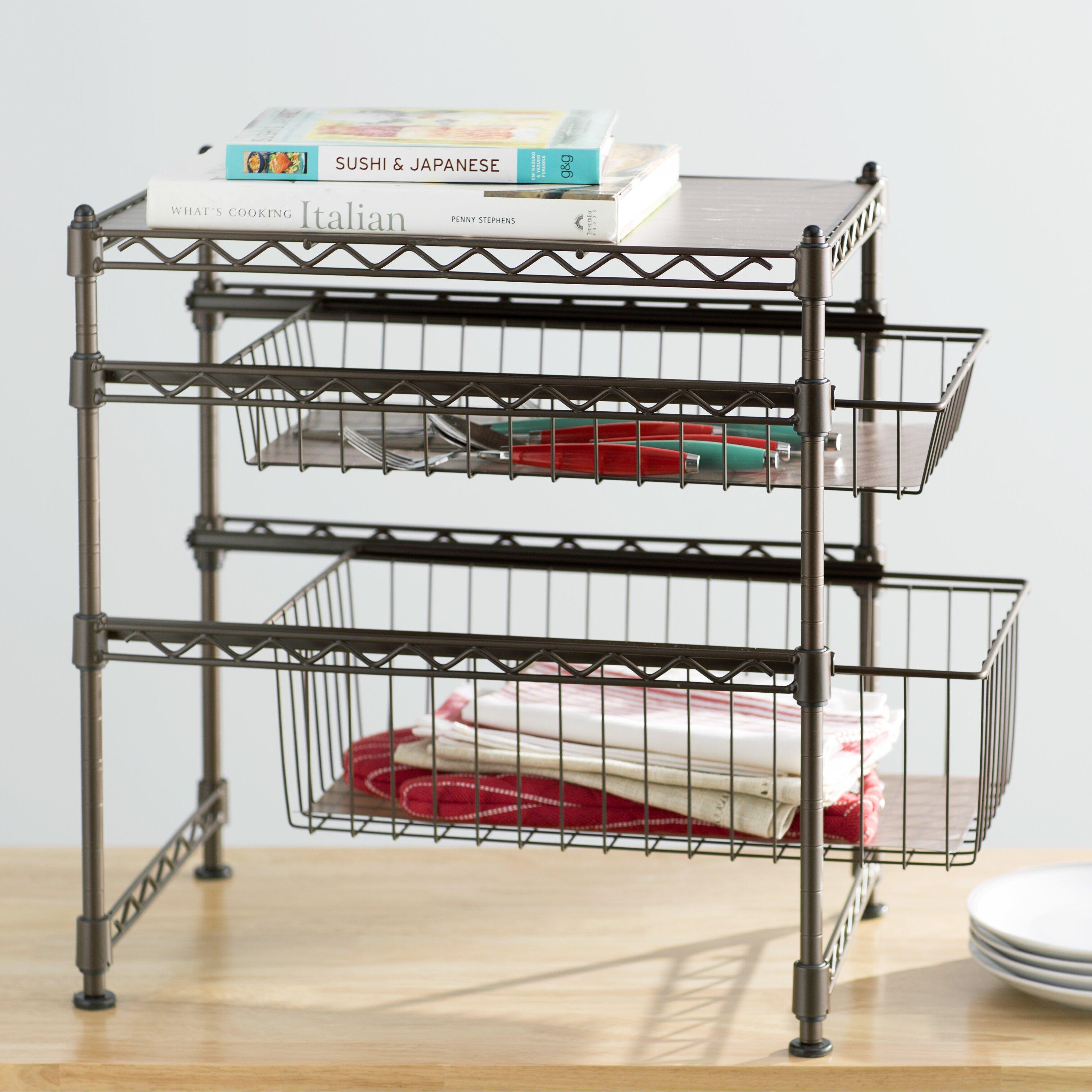 wayfair basics wayfair basics stackable kitchen cabinet