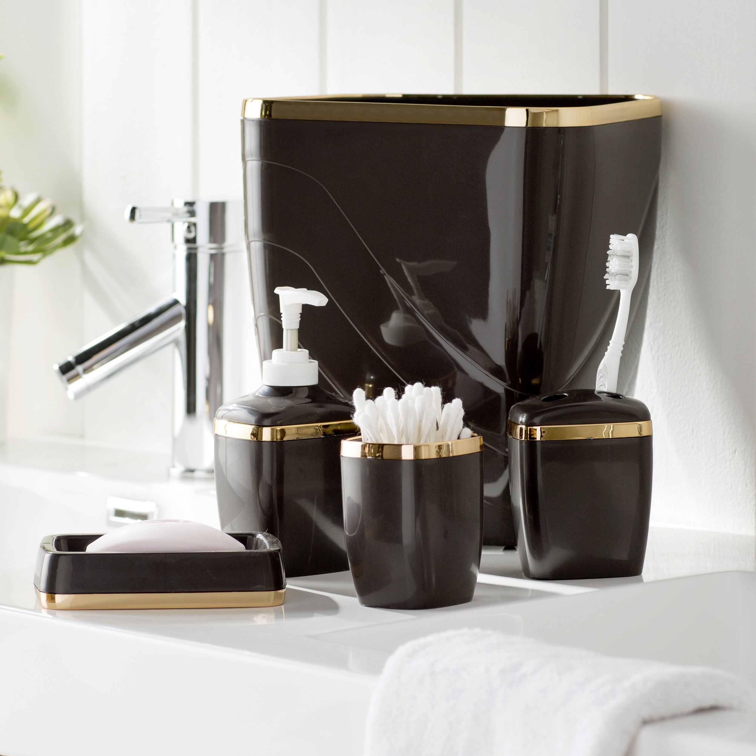 Shower Bathroom Sets: Wayfair Basics Wayfair Basics 5-Piece Bathroom Accessory