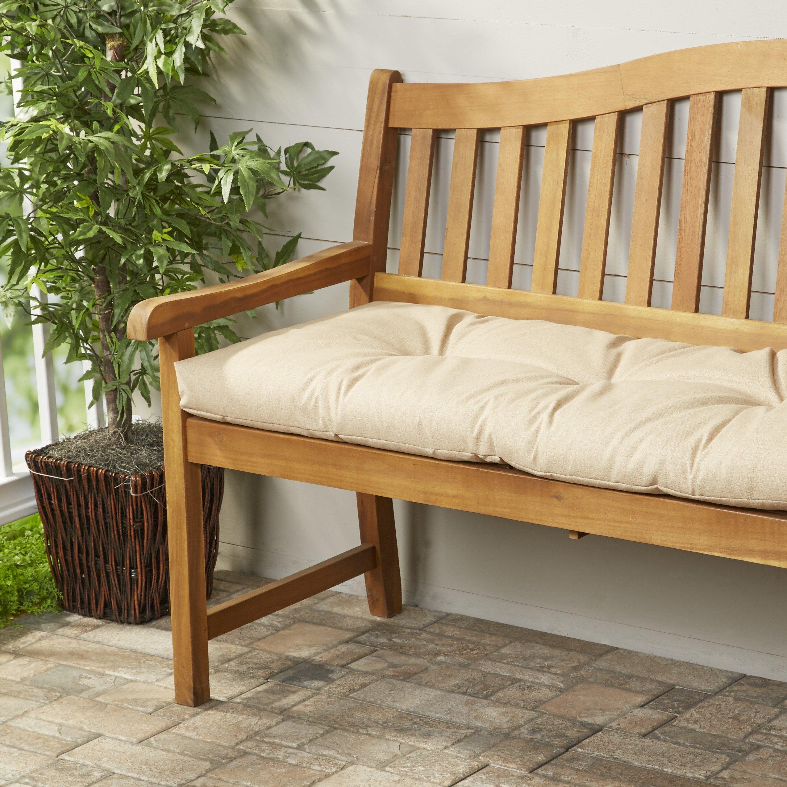 Bench Cusion: Wayfair Basics Wayfair Basics Outdoor Bench Cushion