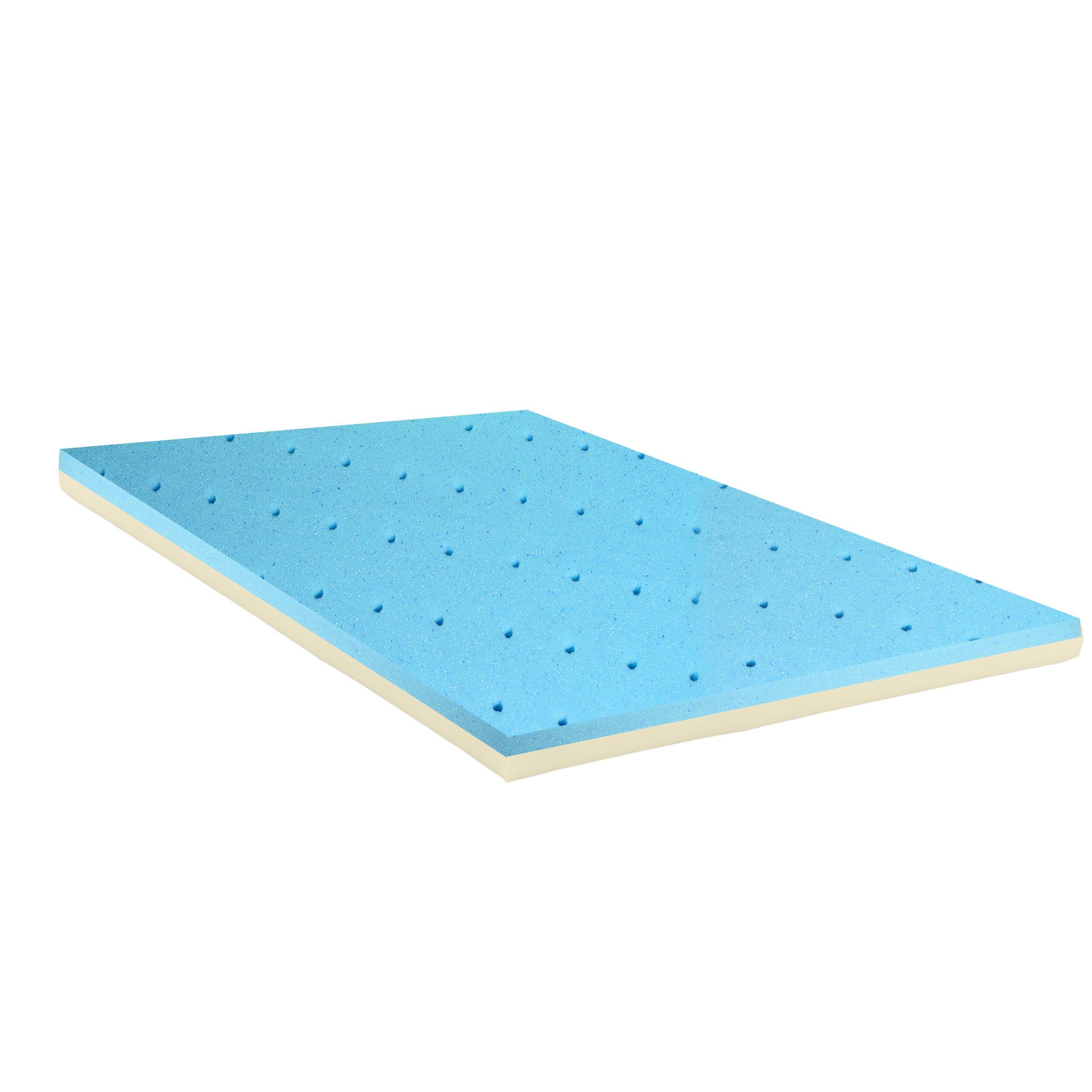 Spinal Solution Gel Infused High Density Foam Mattress Topper Reviews Wayfair