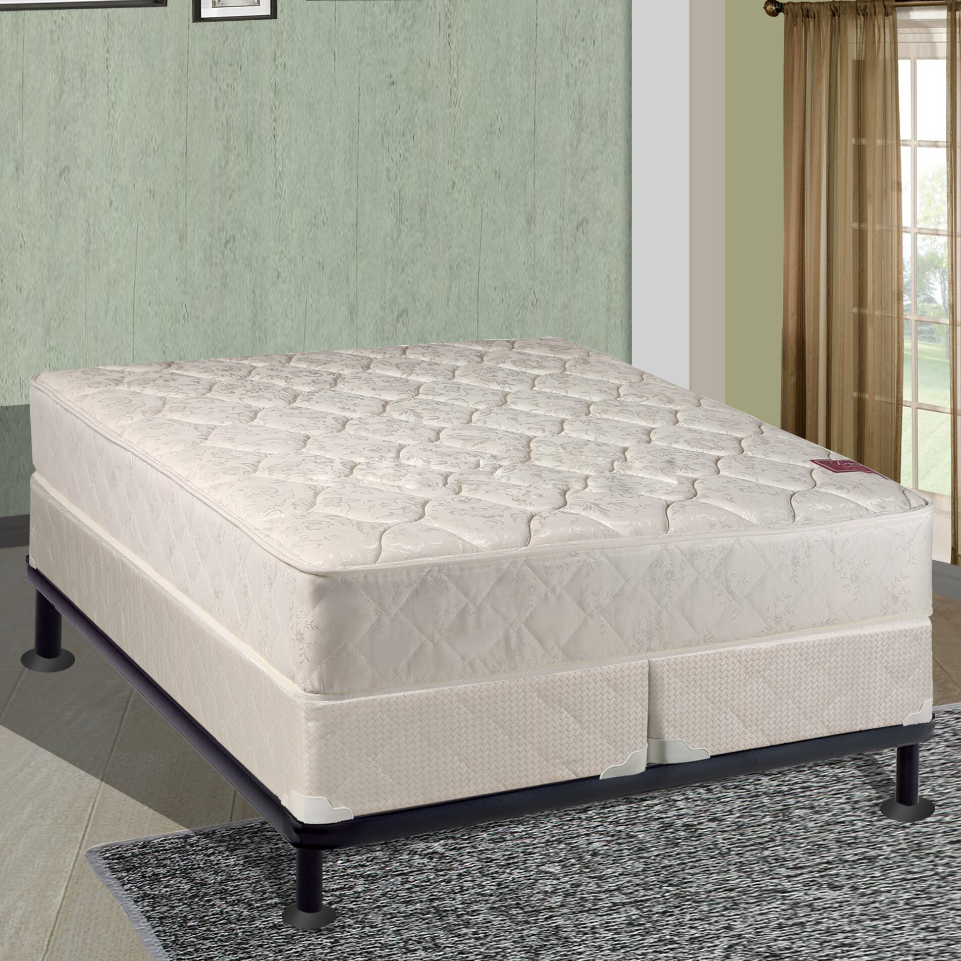 spinal solution 17 firm mattress and box spring reviews wayfair. Black Bedroom Furniture Sets. Home Design Ideas