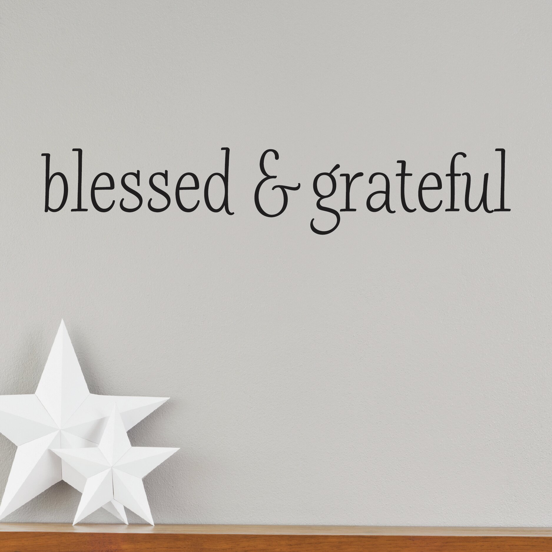 Belvedere Designs LLC Blessed and Grateful Wall Decal & Reviews