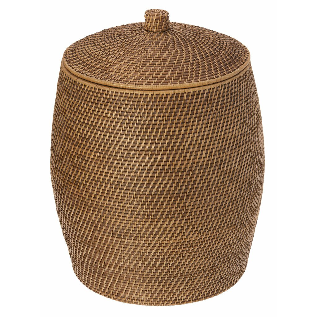 Kouboo beehive rattan laundry hamper with cotton liner reviews wayfair - Rattan clothes hamper ...