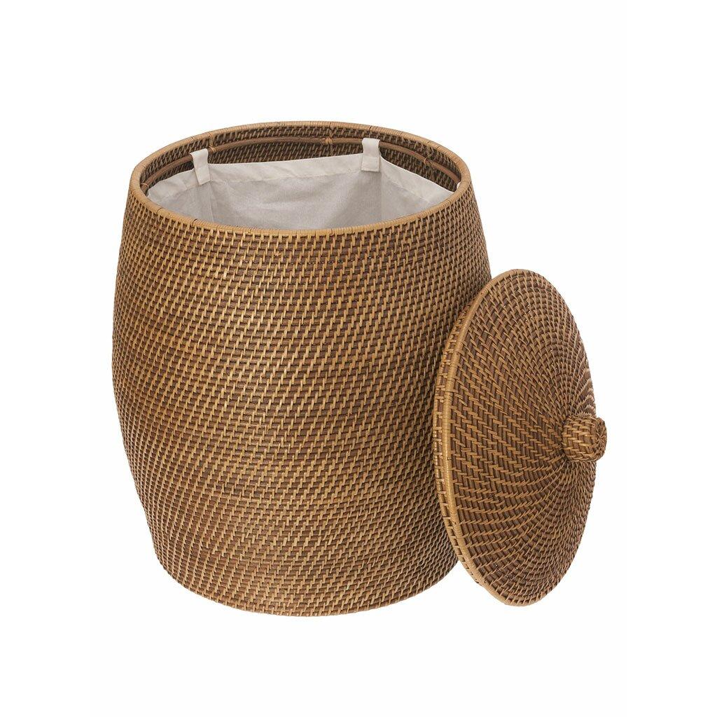 Kouboo beehive rattan laundry hamper with cotton liner reviews wayfair - Wicker beehive basket ...