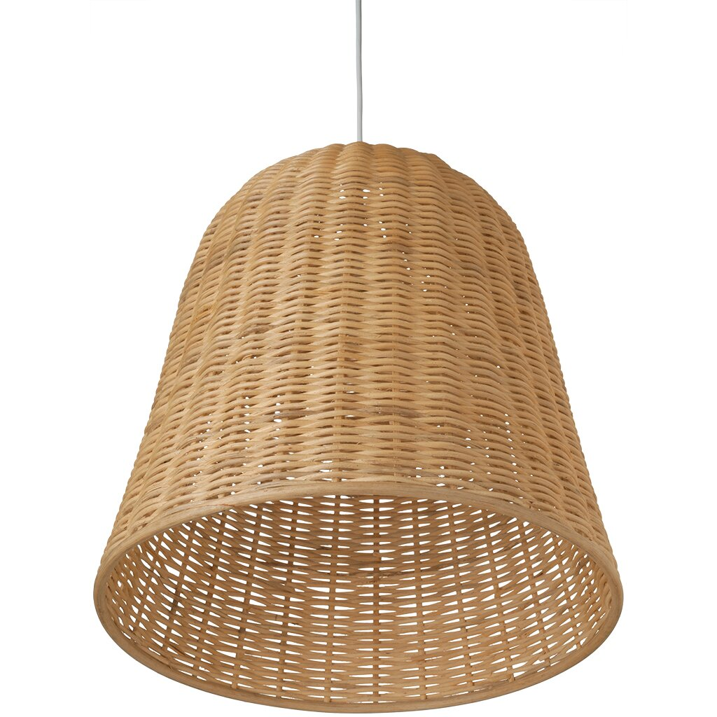 Kouboo 1 Light Wicker Bell Pendant Lamp Amp Reviews Wayfair