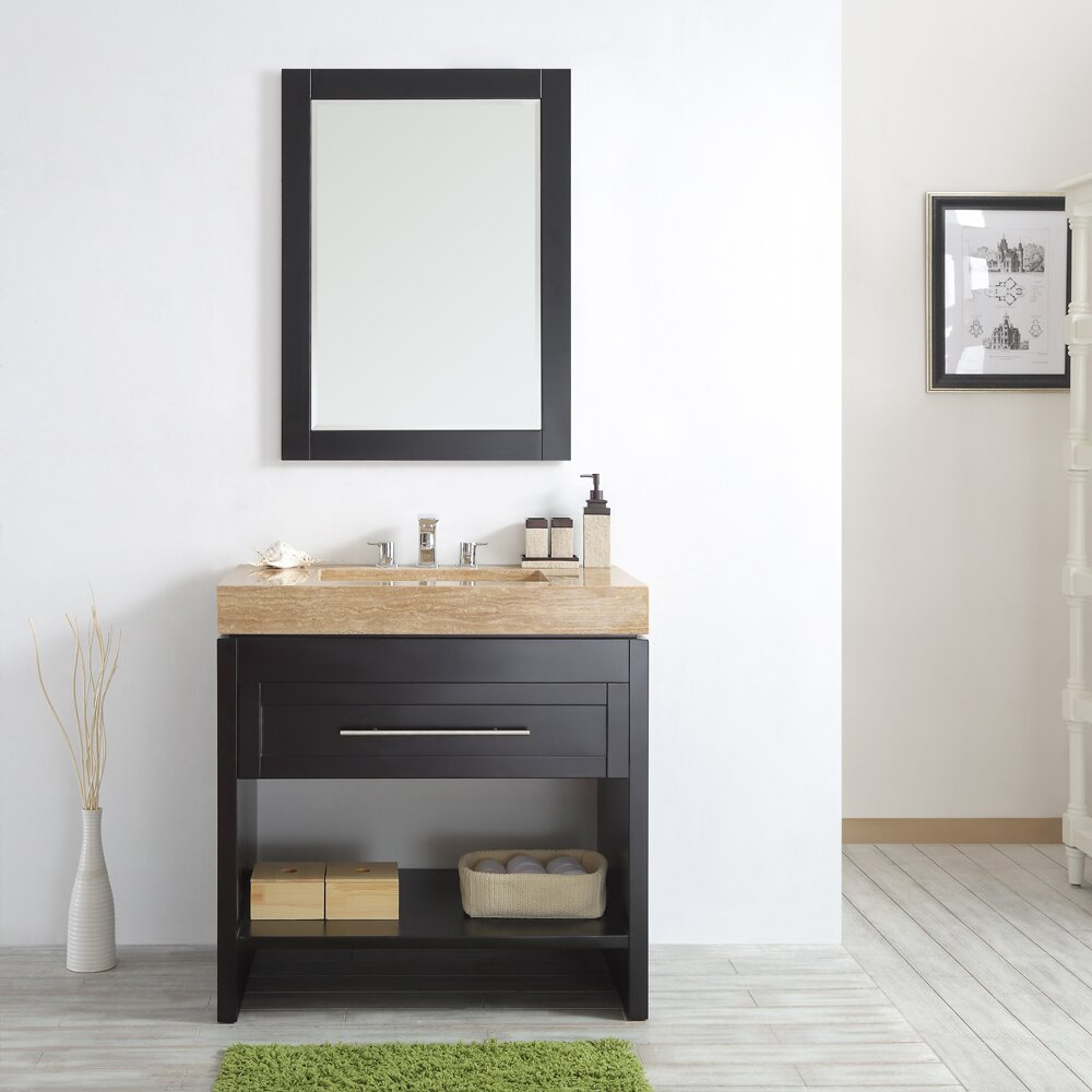 Vinnova Bolzana 36 Single Vanity Set With Mirror Wayfair