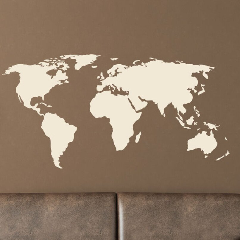 Style And Apply World Map Wall Decal Reviews Wayfair