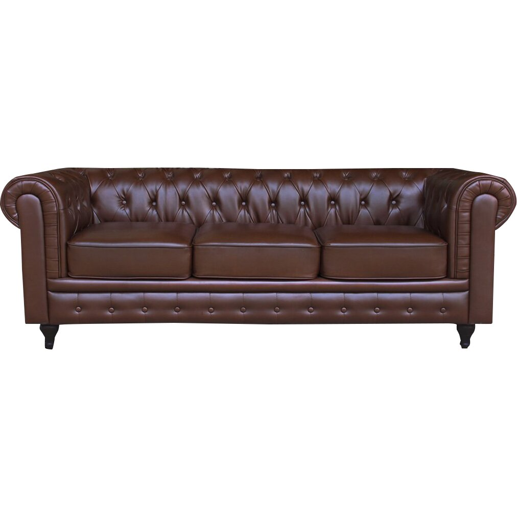 madison home usa chesterfield sofa reviews wayfair. Black Bedroom Furniture Sets. Home Design Ideas