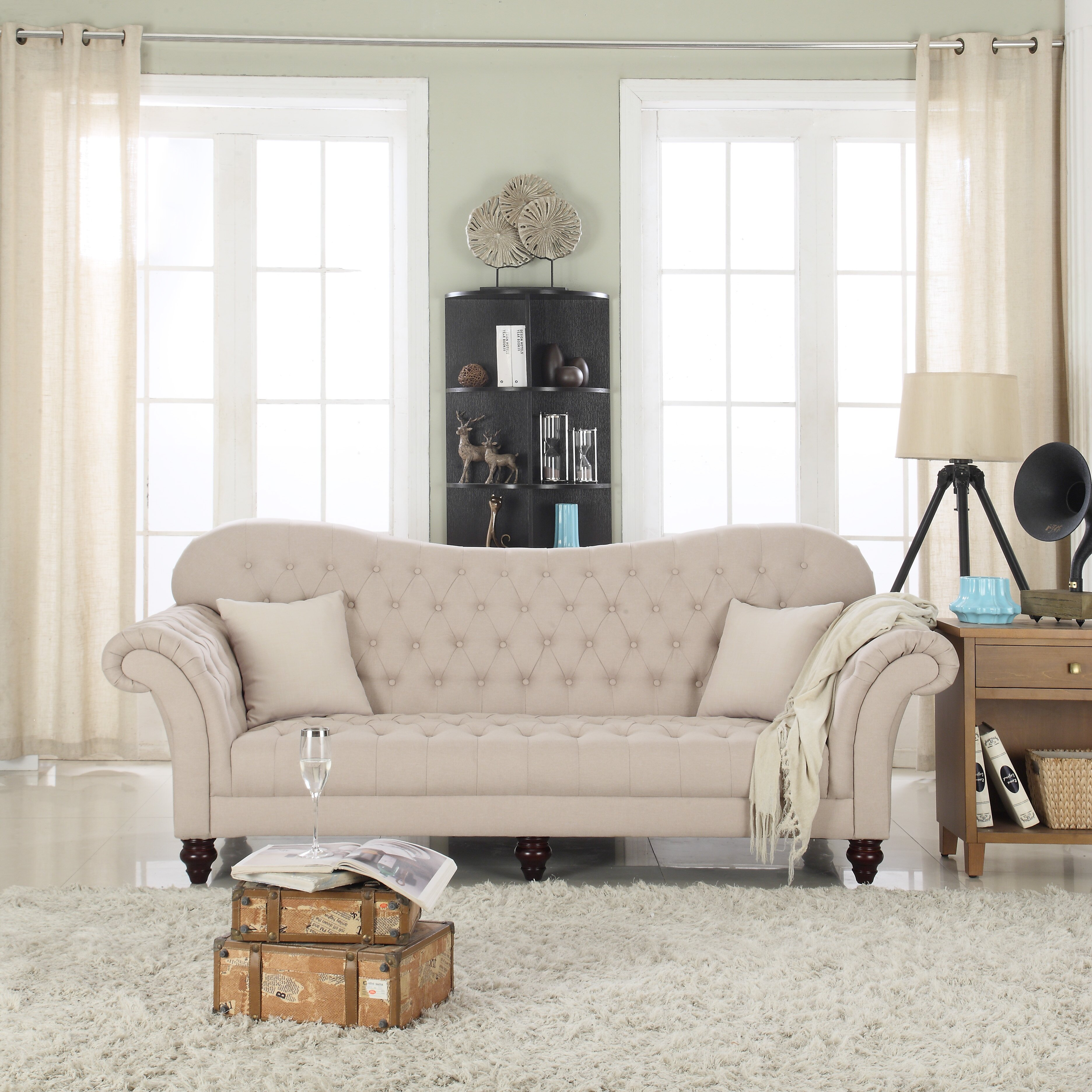 Madison Home Usa Classic Tufted Victorian Sofa Reviews Wayfair