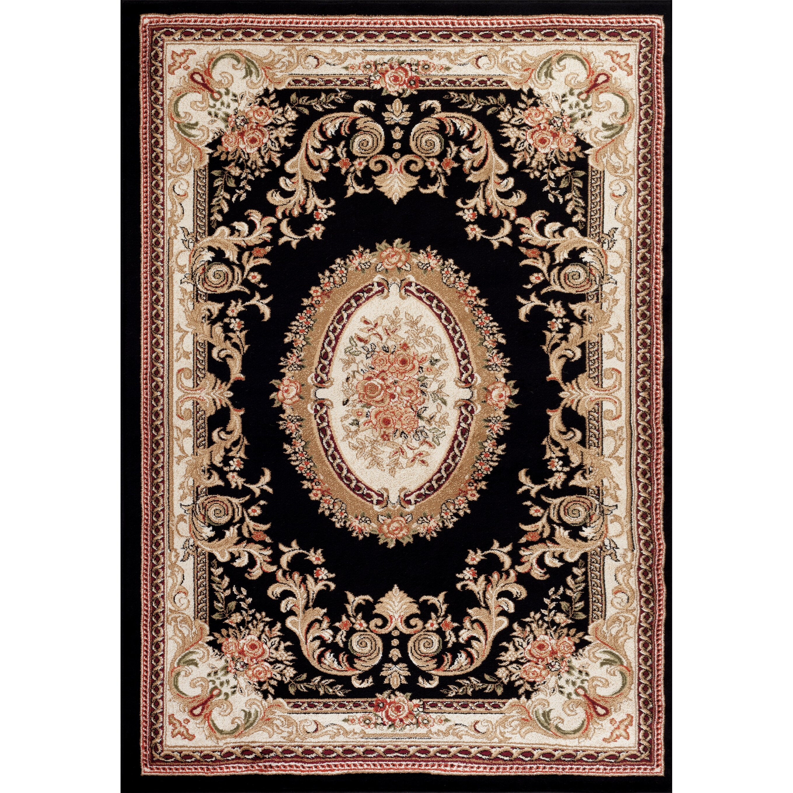 Persian-rugs Traditional Black Area Rug & Reviews