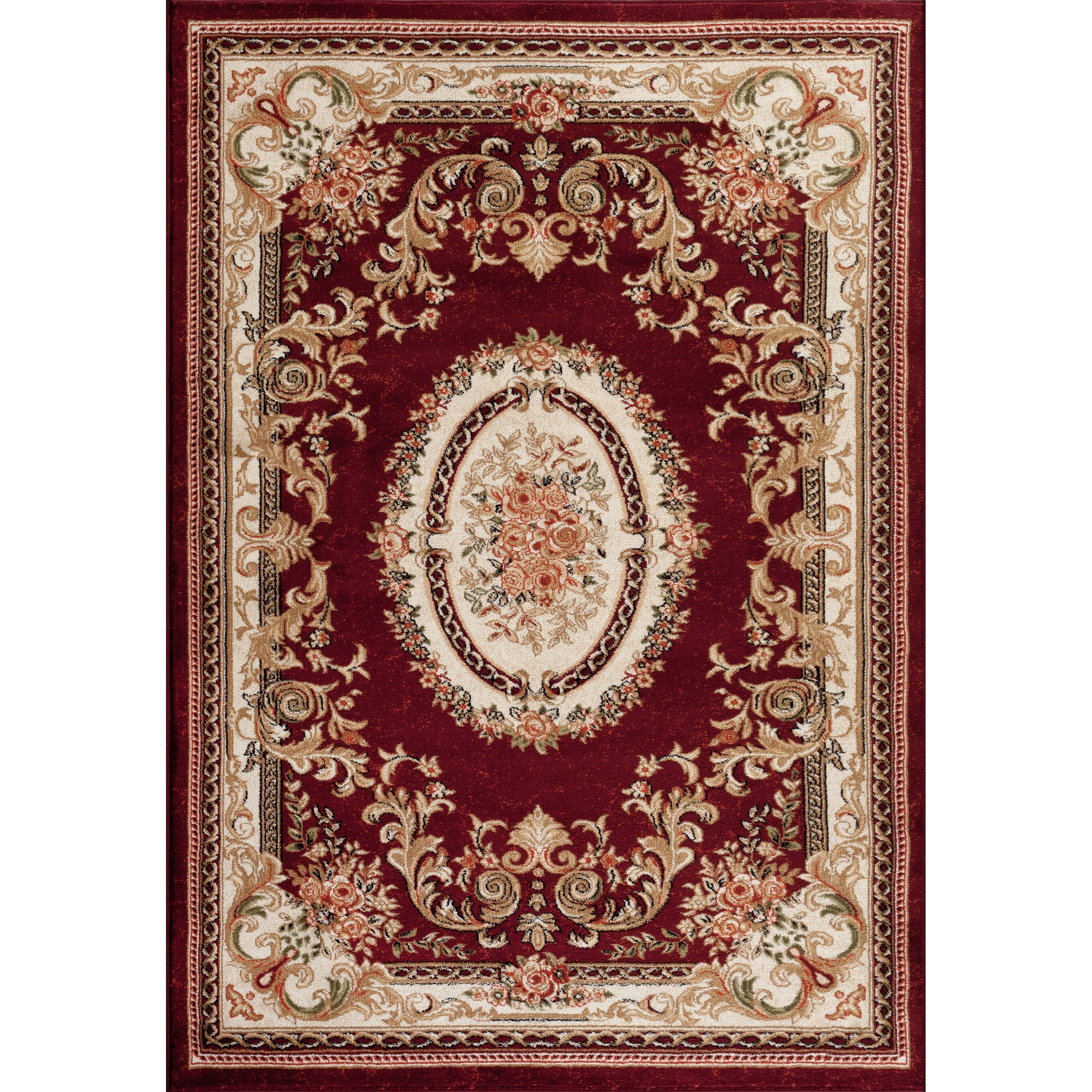 Persian-rugs Tobis Traditional Burgundy Area Rug & Reviews