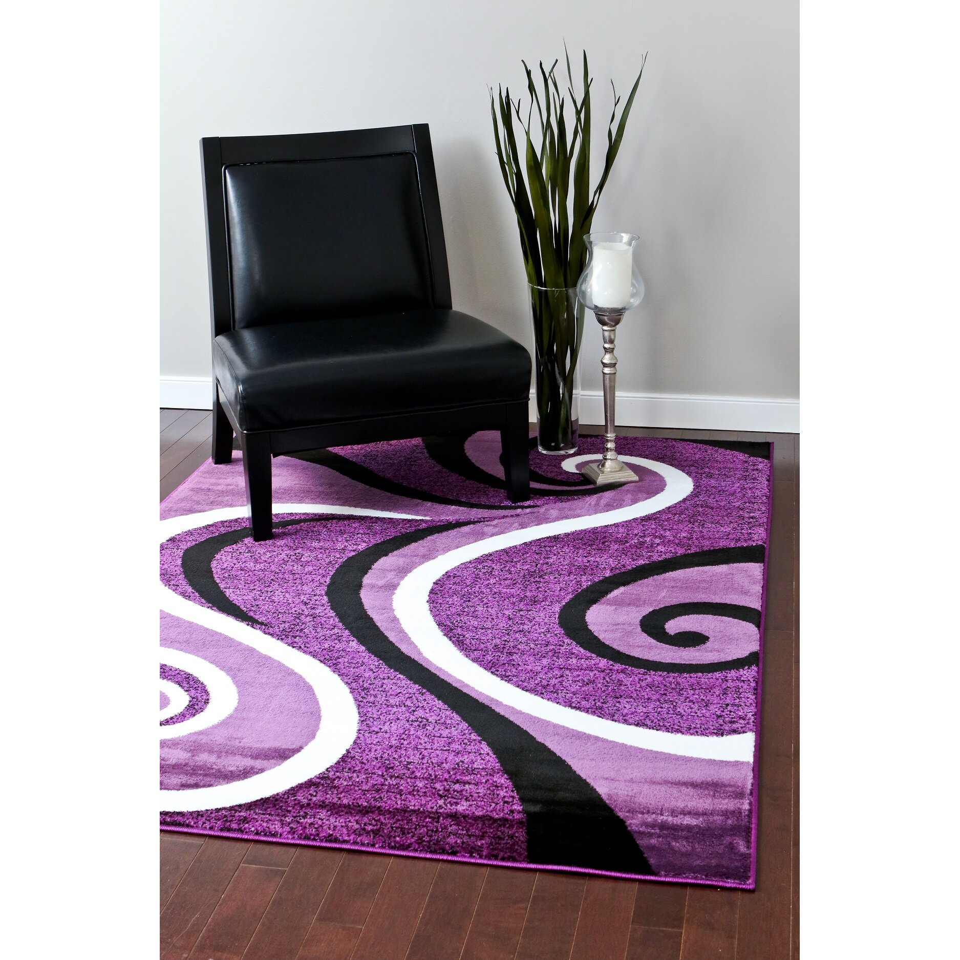 Purple Rug: Persian-rugs Abstract Purple Area Rug & Reviews
