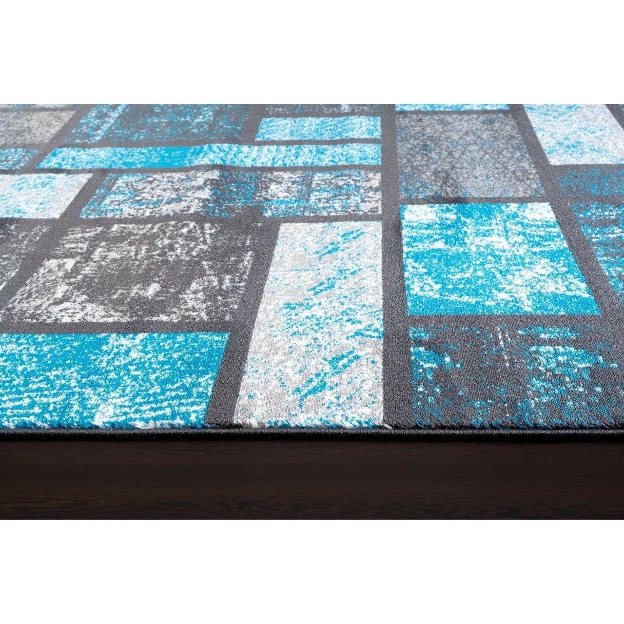 Persian rugs tobis modern turquoise area rug reviews for Contemporary area rugs on sale