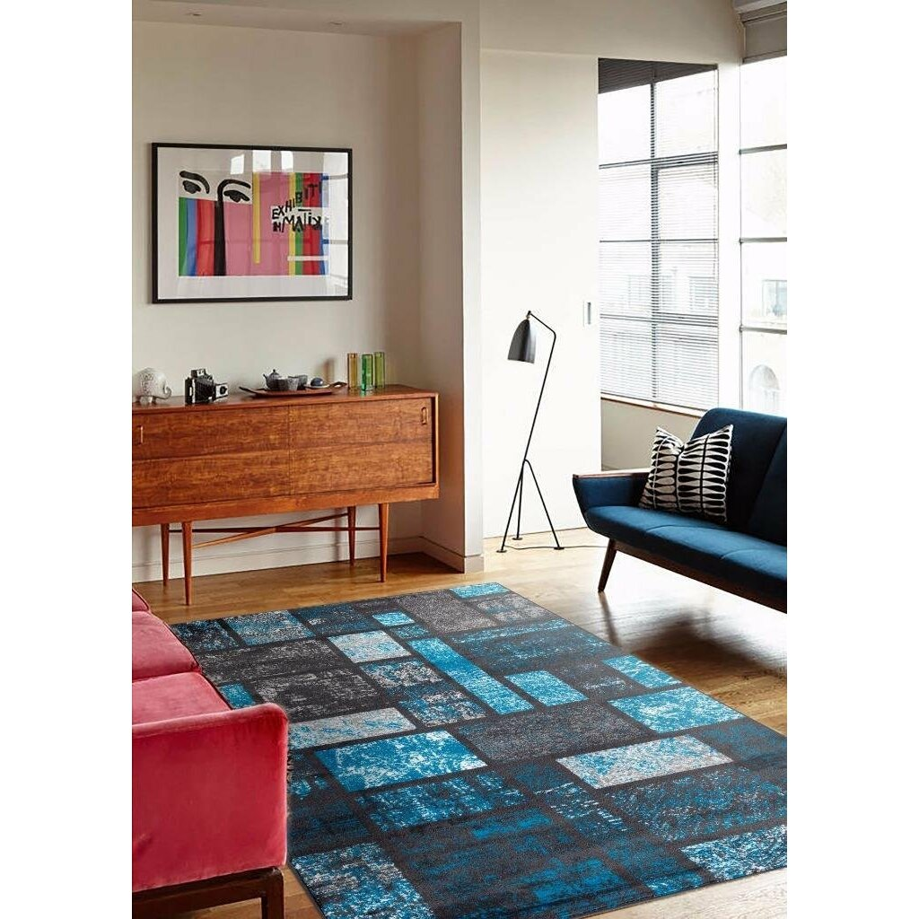 Persian rugs tobis modern turquoise area rug reviews for 9 x 10 living room