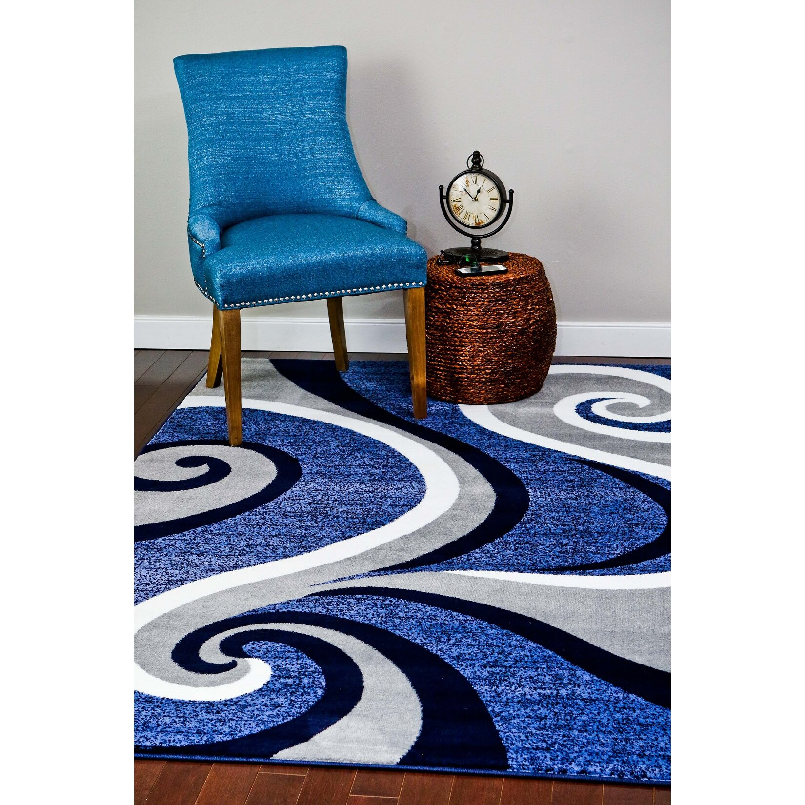 Persian rugs Abstract Blue Area Rug & Reviews