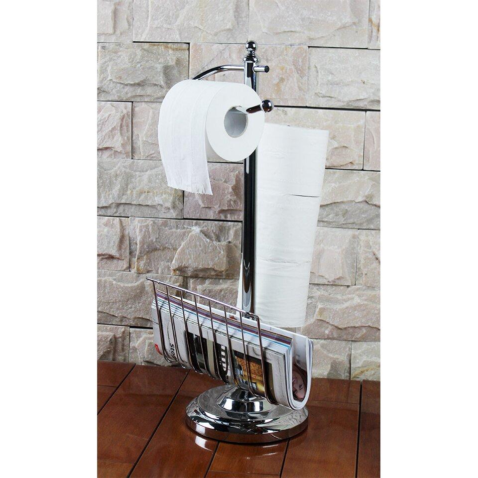 Hopeful Enterprise Toilet Paper Holder With Magazine Rack & Reviews