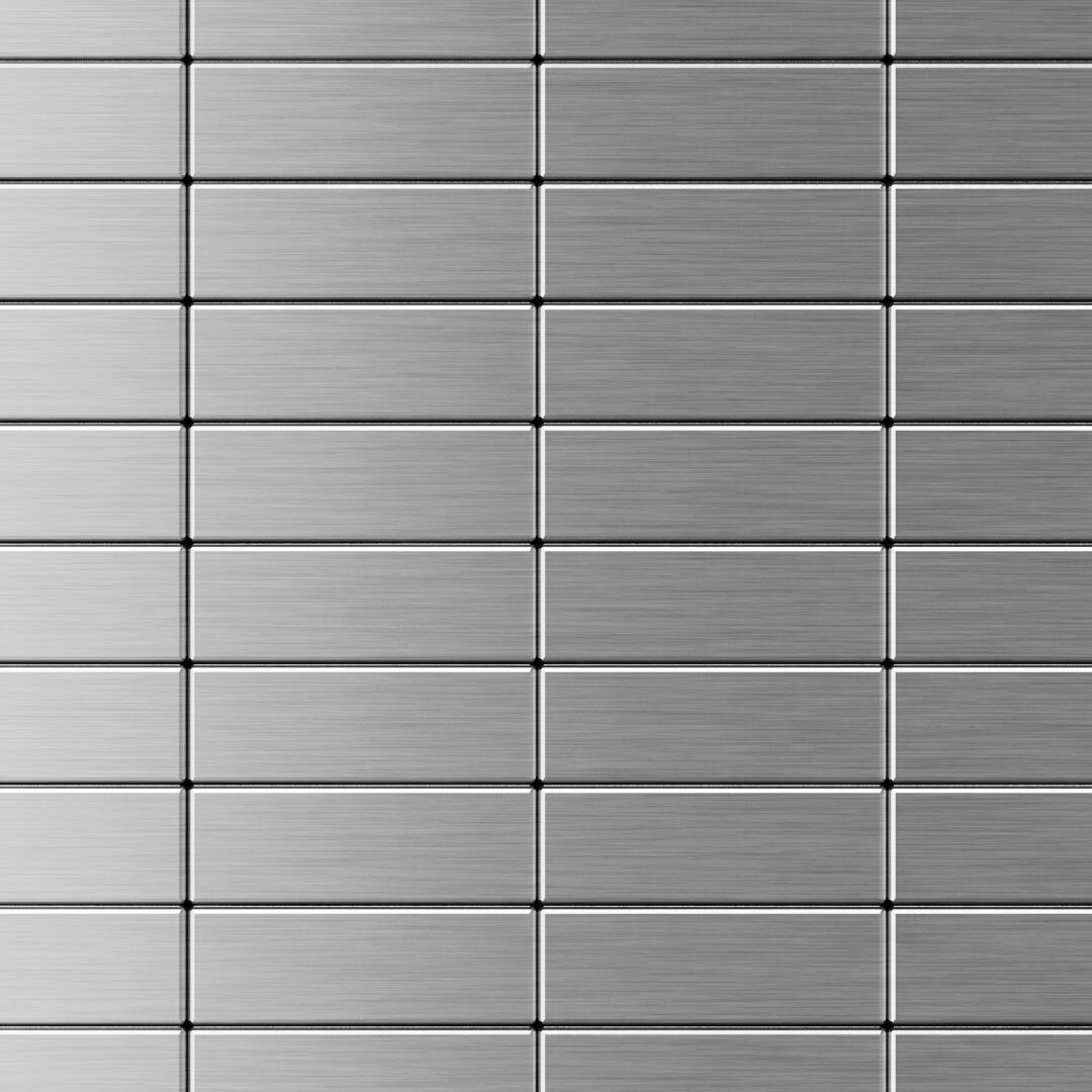 Inoxia speedtiles 116quot x 114quot metal subway tile in for Stainless steel backsplash tiles self adhesive