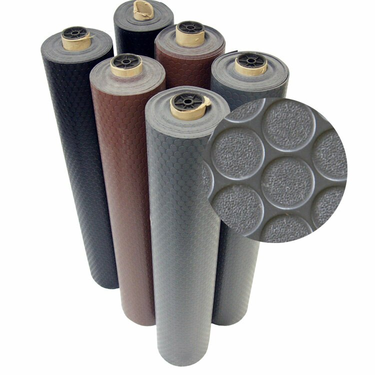 Rubber Cal Inc Quot Coin Grip Quot Anti Slip Rolled Rubber Mat
