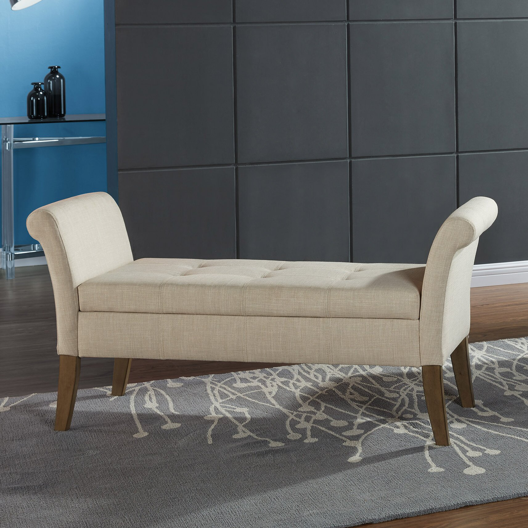 Varian Upholstered Storage Bedroom Bench Reviews: WorldWide HomeFurnishings Upholstered Storage Bedroom