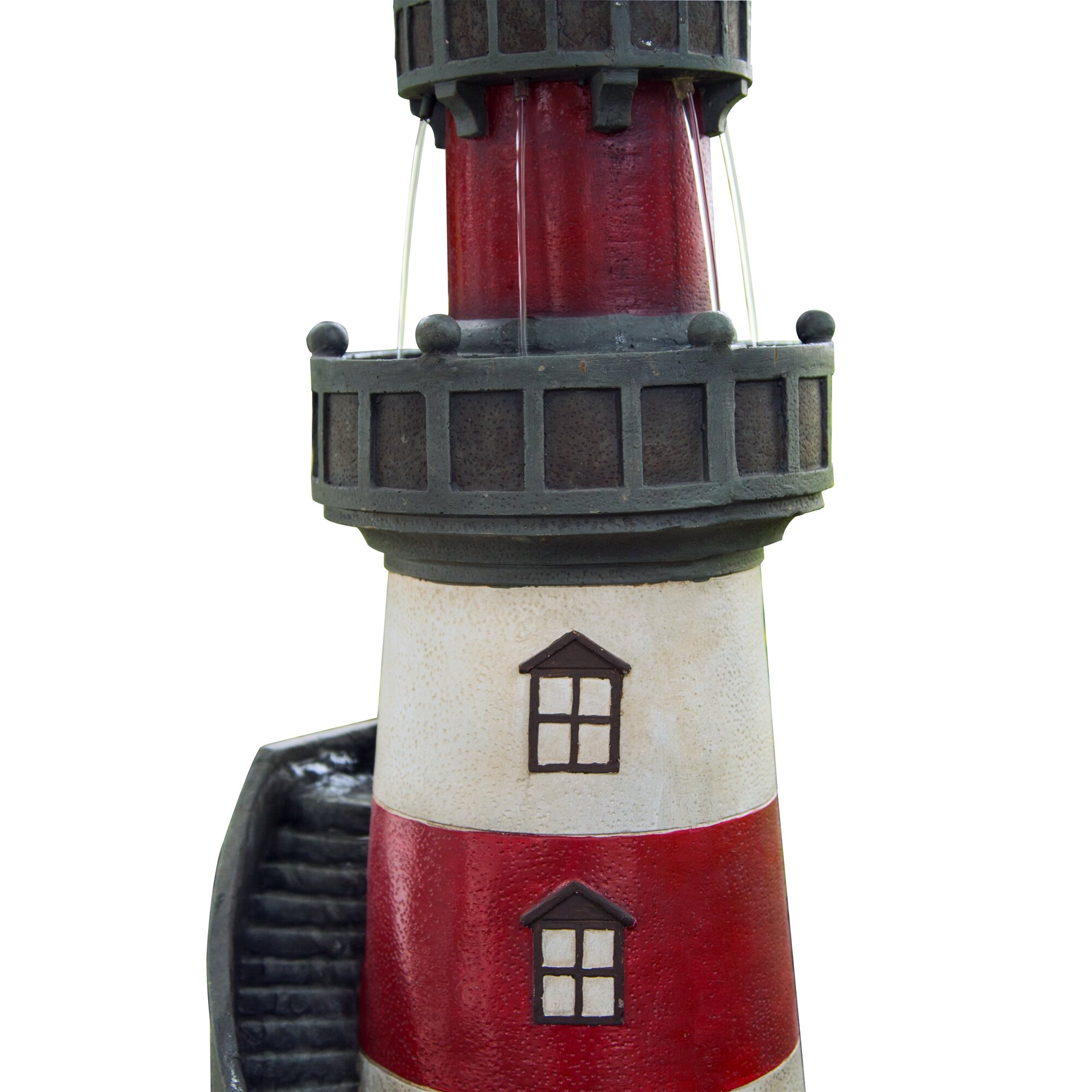 peaktop polyresin rotating solar powered light house. Black Bedroom Furniture Sets. Home Design Ideas