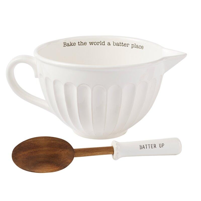 mud pie circa 2 piece ceramic mixing bowl set wayfair. Black Bedroom Furniture Sets. Home Design Ideas