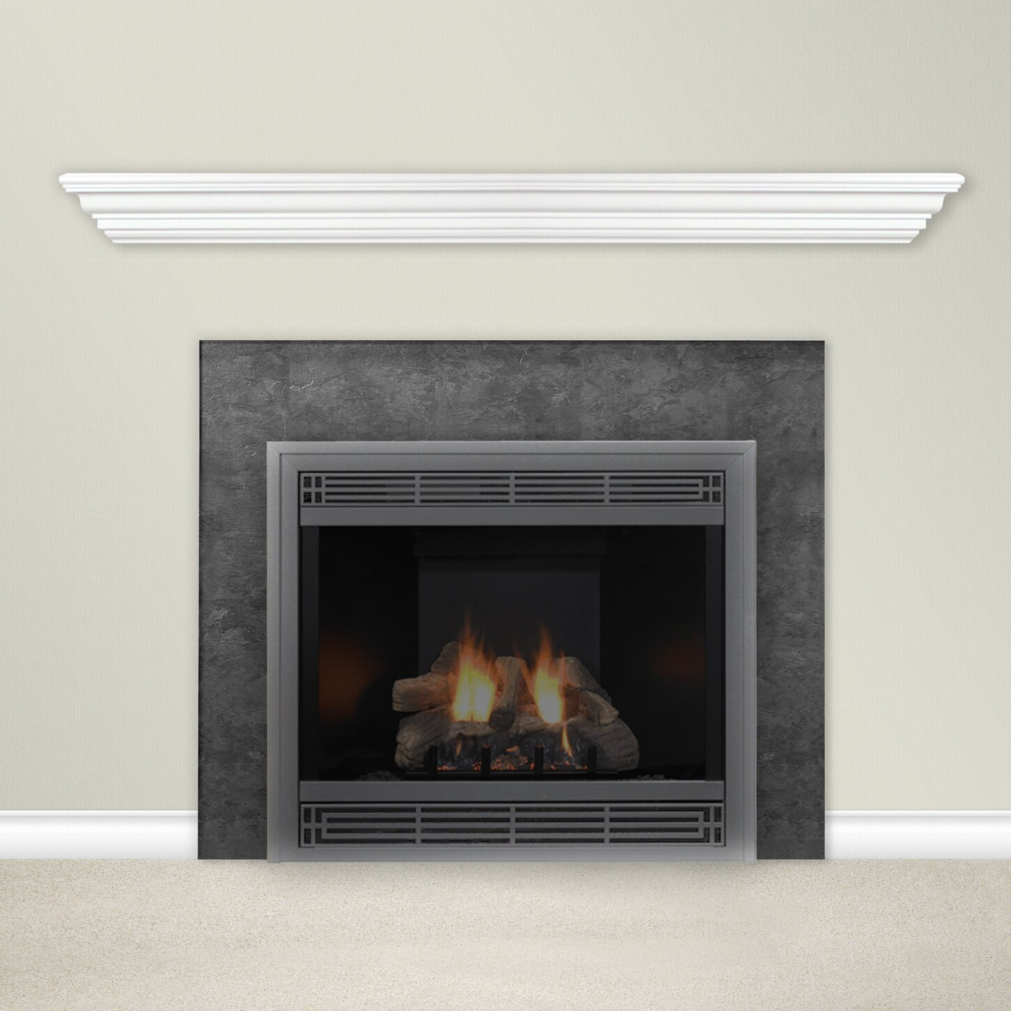 housewarmer fireplace mantel shelf reviews wayfair. Black Bedroom Furniture Sets. Home Design Ideas